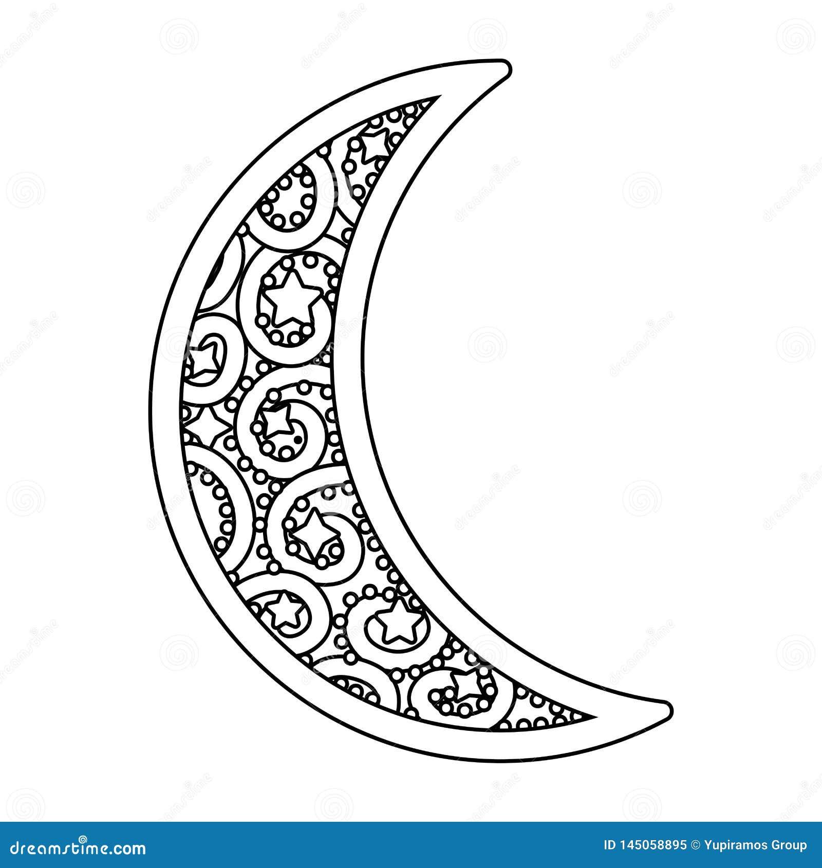 Icône de affaiblissement de lune noire et blanche