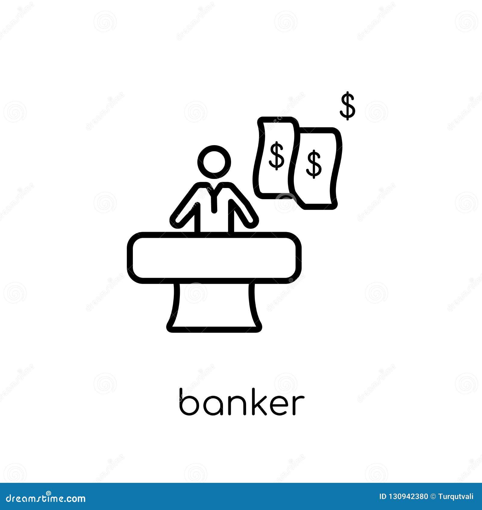 Icône de banquier