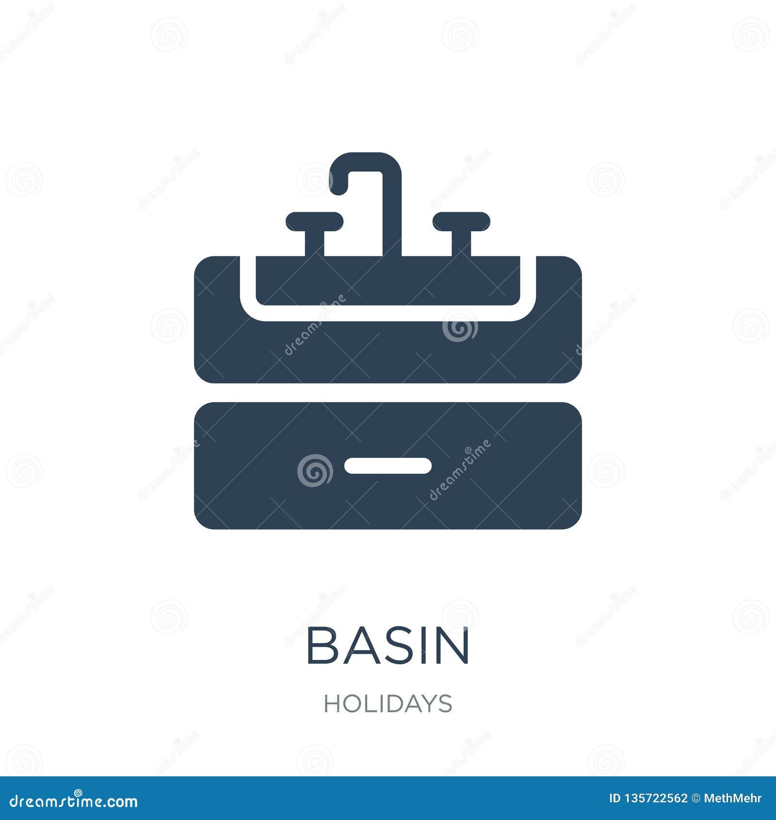 Icône De Bassin Dans Le Style à La Mode De Conception Icône De
