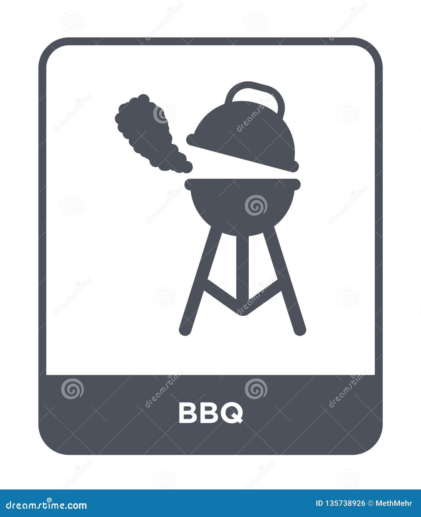 Icône de BBQ dans le style à la mode de conception icône de BBQ d isolement sur le fond blanc symbole plat simple et moderne d ic