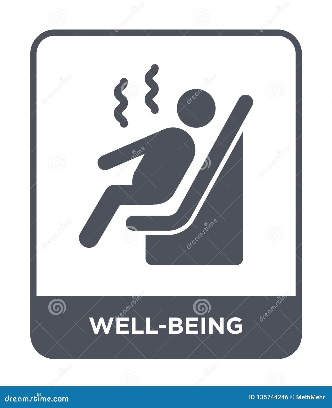 Icône de bien-être dans le style à la mode de conception icône de bien-être d isolement sur le fond blanc icône de vecteur de bie