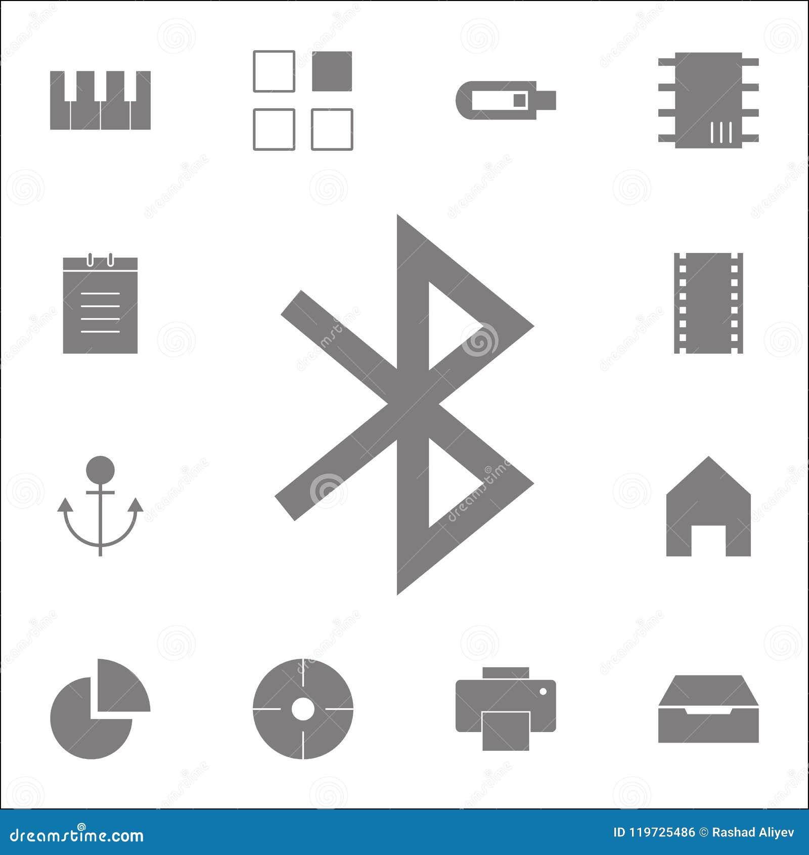 Icône de Bluetooth Ensemble détaillé d icônes minimalistic Signe de la meilleure qualité de conception graphique de qualité Une d