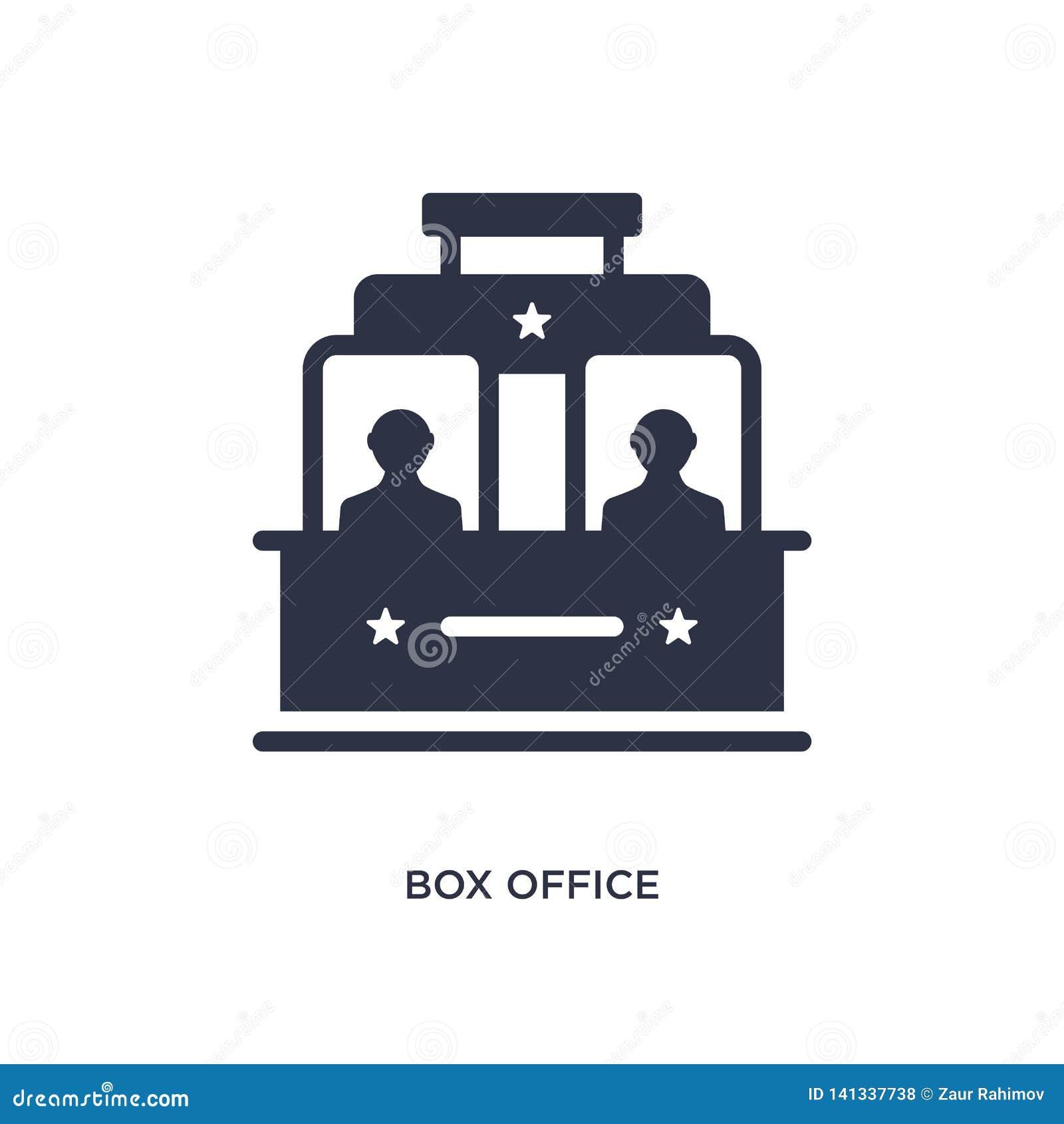 Icône de caisse sur le fond blanc Illustration simple d élément de concept de cinéma