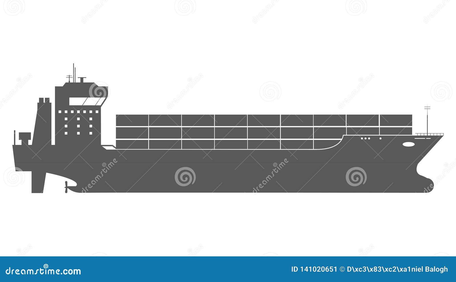 Icône de cargo avec des charges de conteneur dans le processus d expédition d exportation-importation