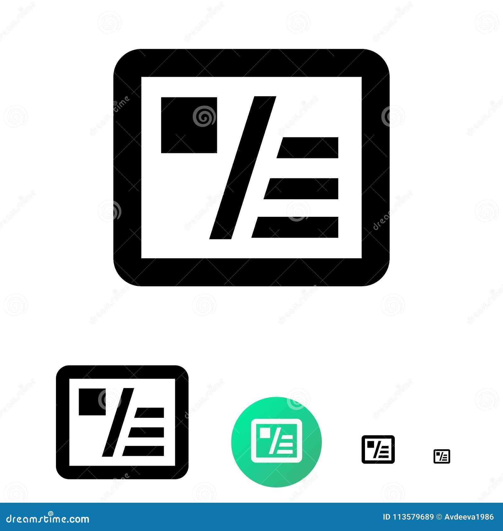 Icone De Cartes Visite Professionnelle Pour Des Affaires Commerce Electronique