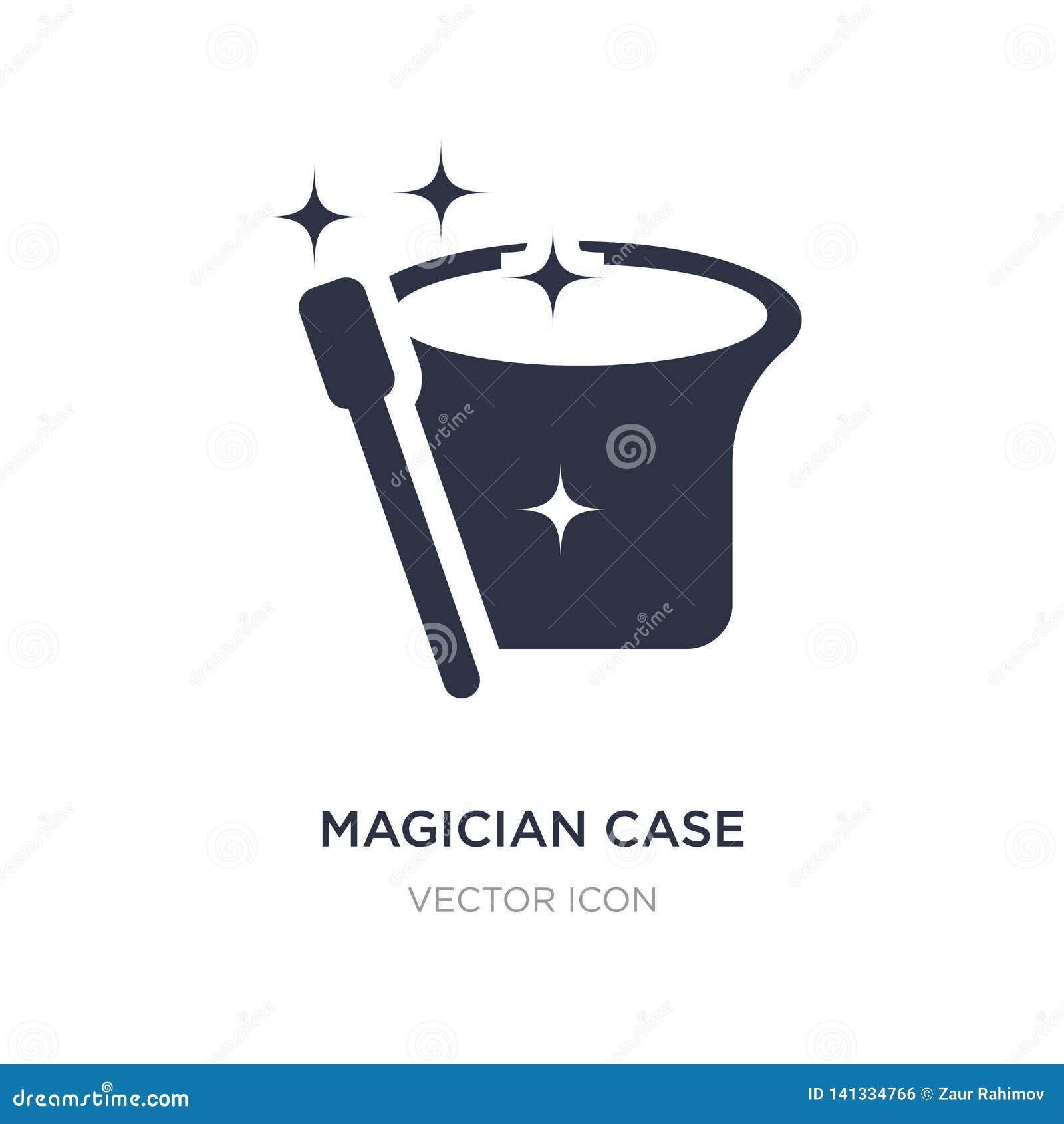 Icône de cas de magicien sur le fond blanc Illustration simple d élément de concept de partie