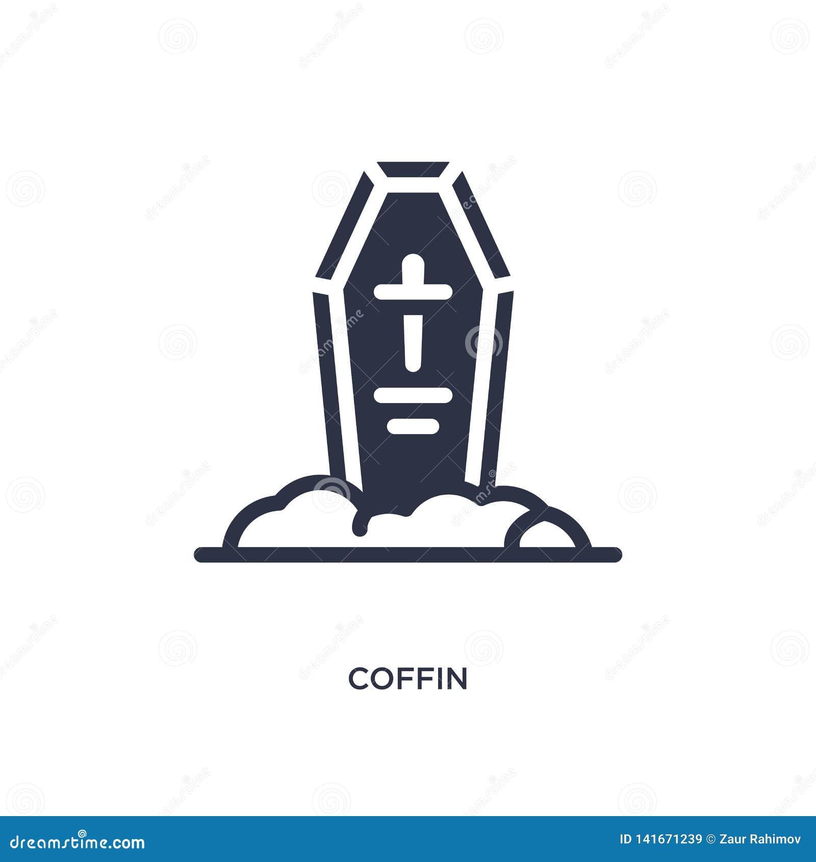 Icône de cercueil sur le fond blanc Illustration simple d élément de concept occidental sauvage