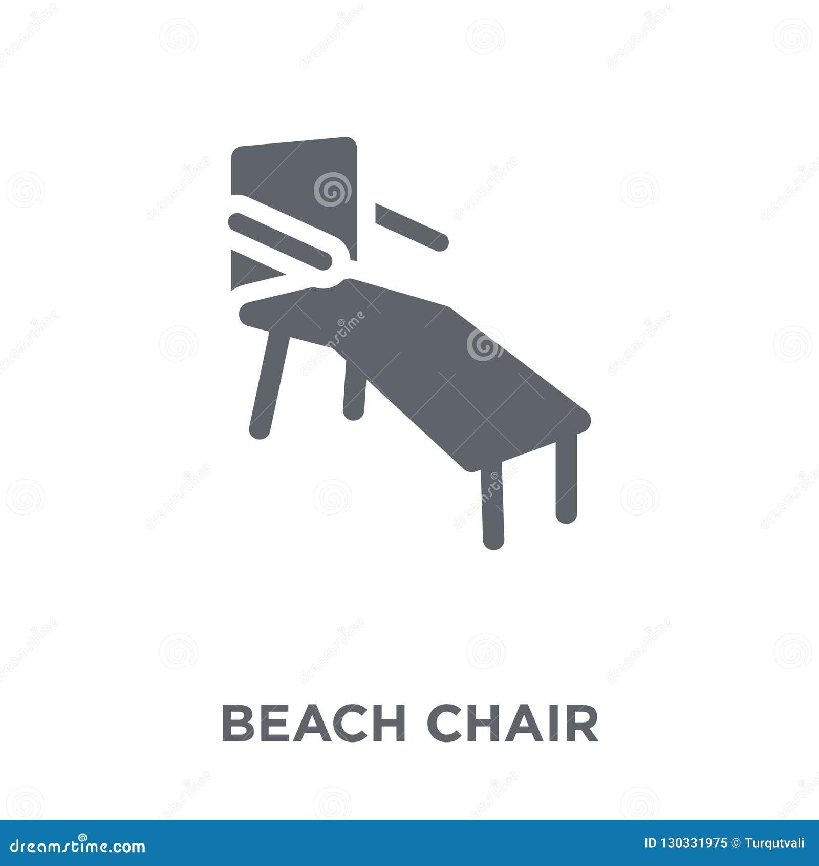 Icône de chaise de plage de collection d été