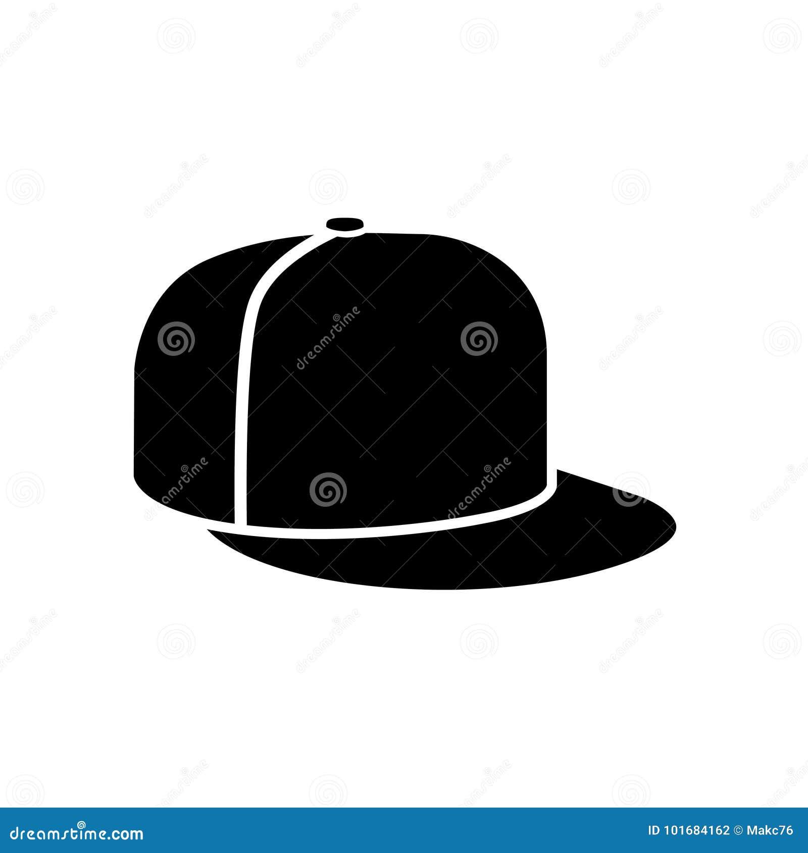 Icône de chapeau de coup sec et dur