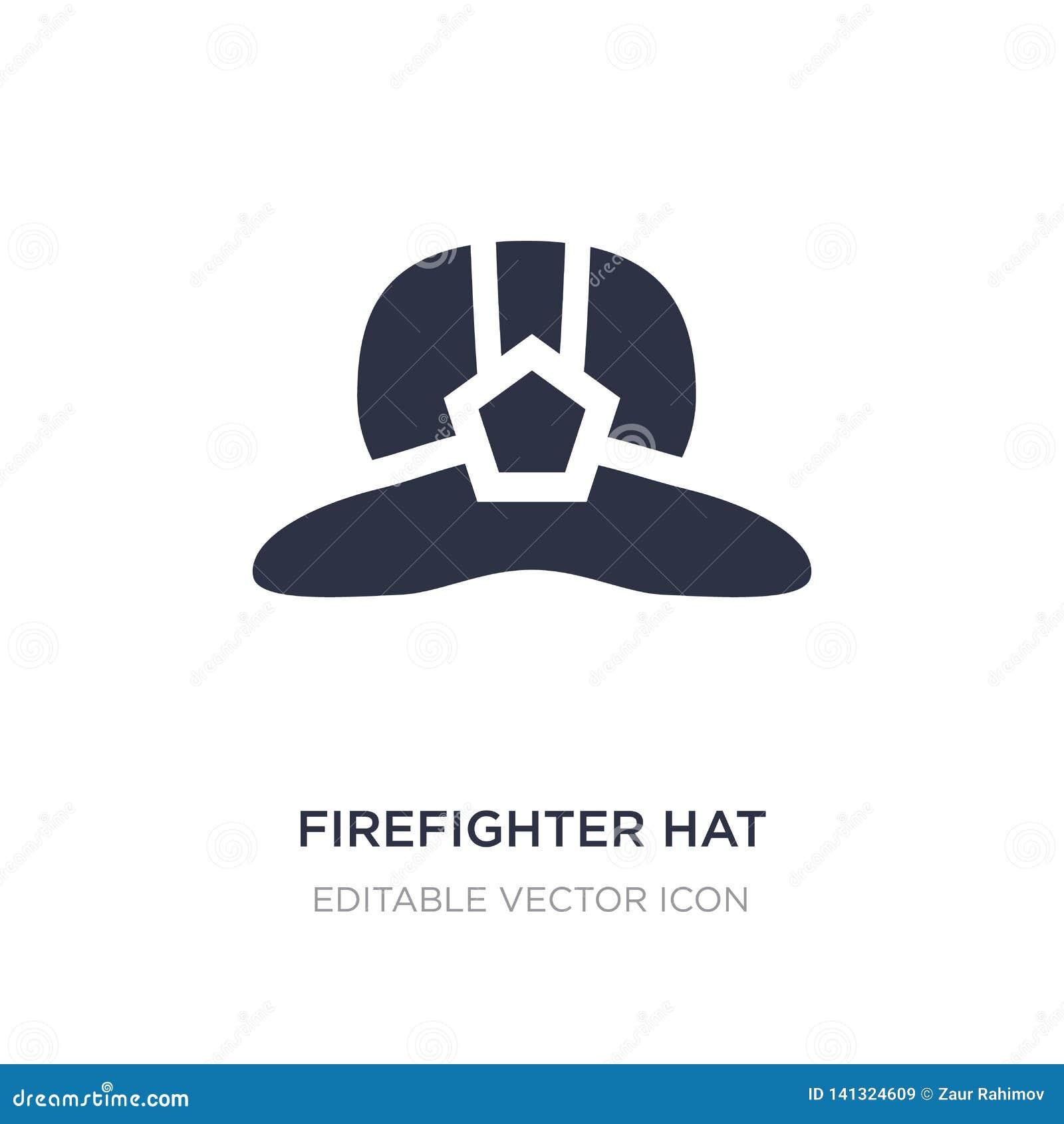 Icône de chapeau de sapeur-pompier sur le fond blanc Illustration simple d élément de concept de mode