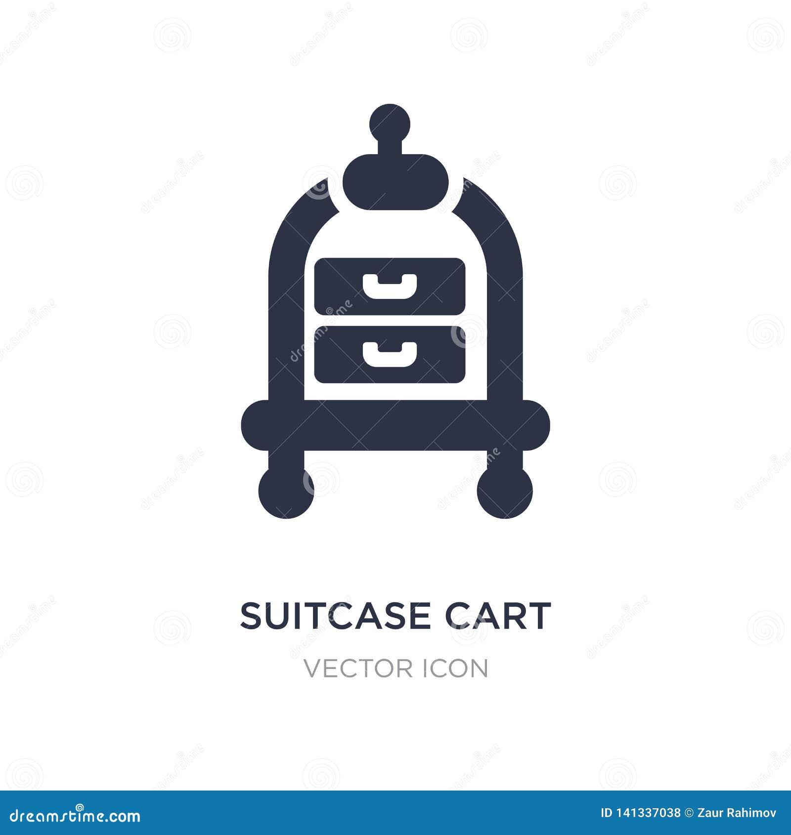 Icône de chariot de valise sur le fond blanc Illustration simple d élément de concept de transport