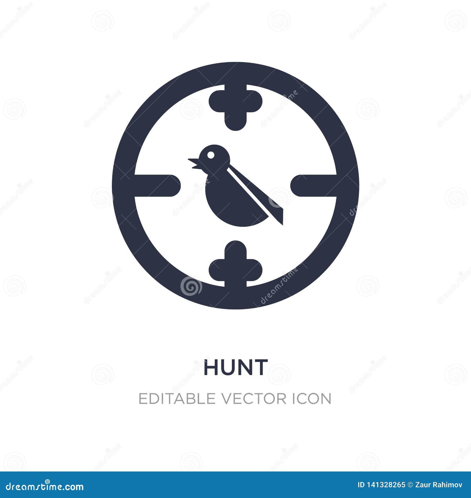 Icône de chasse sur le fond blanc Illustration simple d élément de concept d animaux