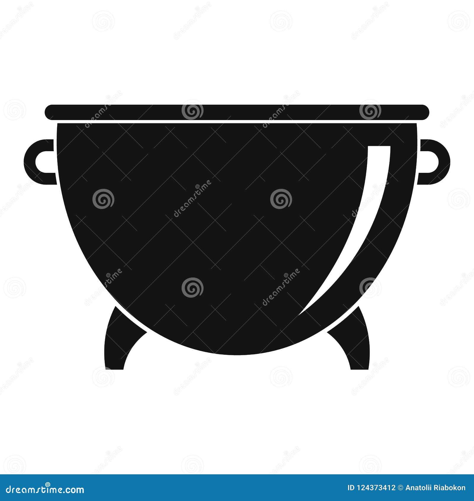 Icône De Chaudron De Cuisine Illustration Simple De Lu0027icône De Chaudron De  Cuisine Pour Le Web Design Du0027isolement Sur Le Fond Blanc