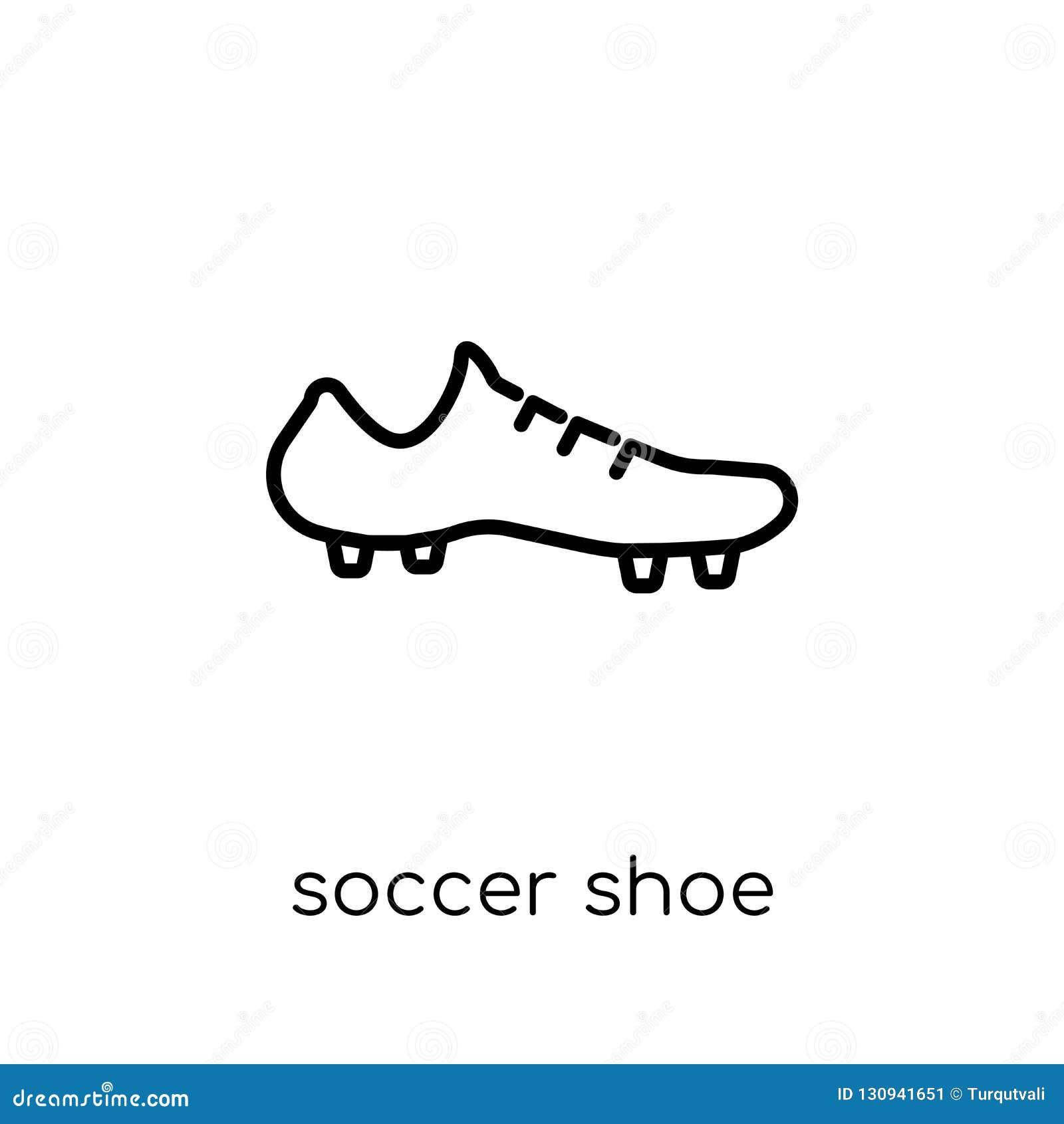 Icône de chaussure du football de collection de vêtements