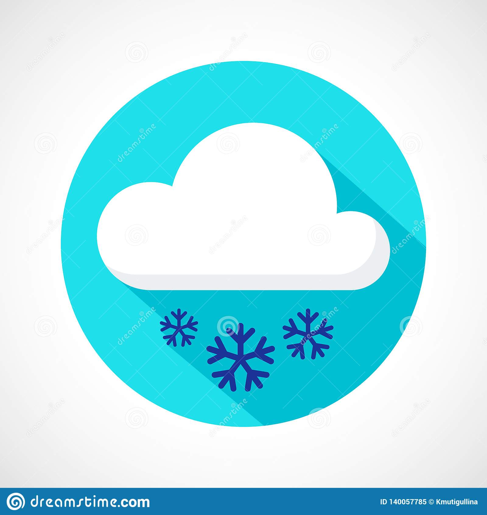 Icône de chutes de neige de temps