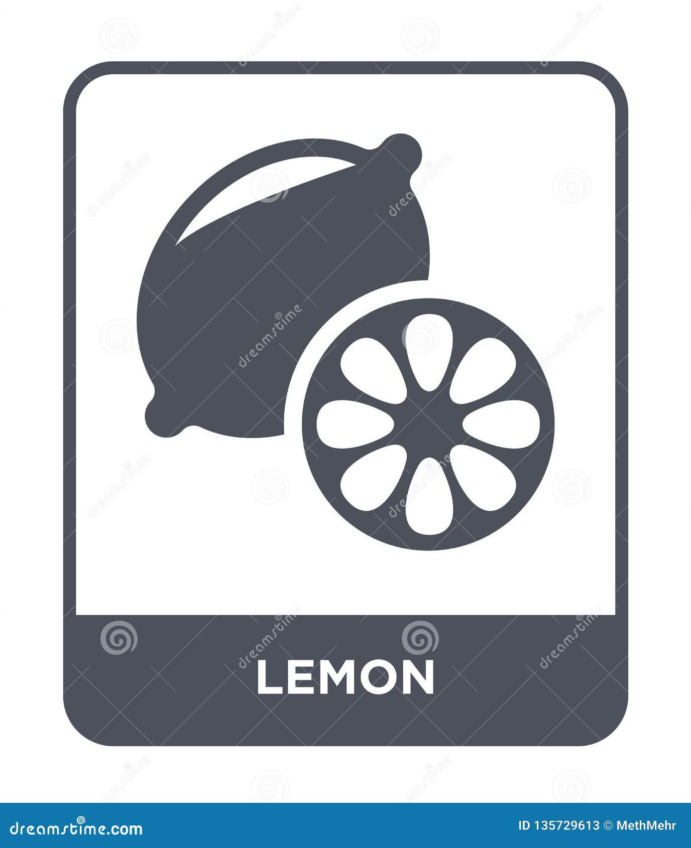 Icône de citron dans le style à la mode de conception Icône de citron d isolement sur le fond blanc symbole plat simple et modern