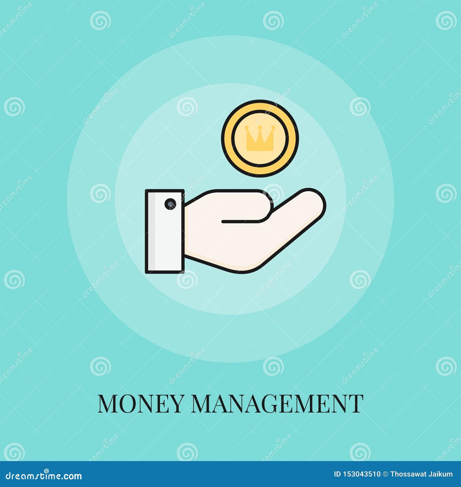 Icône de concept de gestion de fortunes