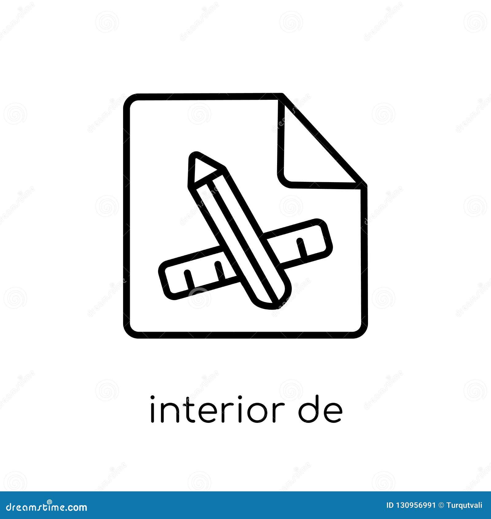 Icône de conception intérieure de collection
