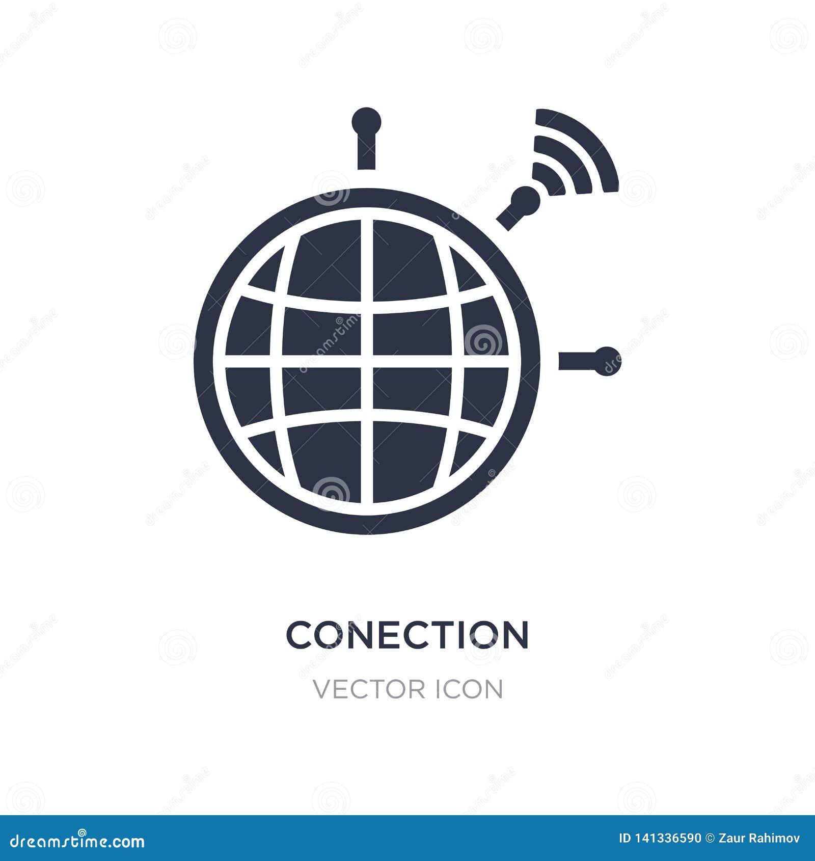 Icône de conection sur le fond blanc Illustration simple d élément de concept de technologie