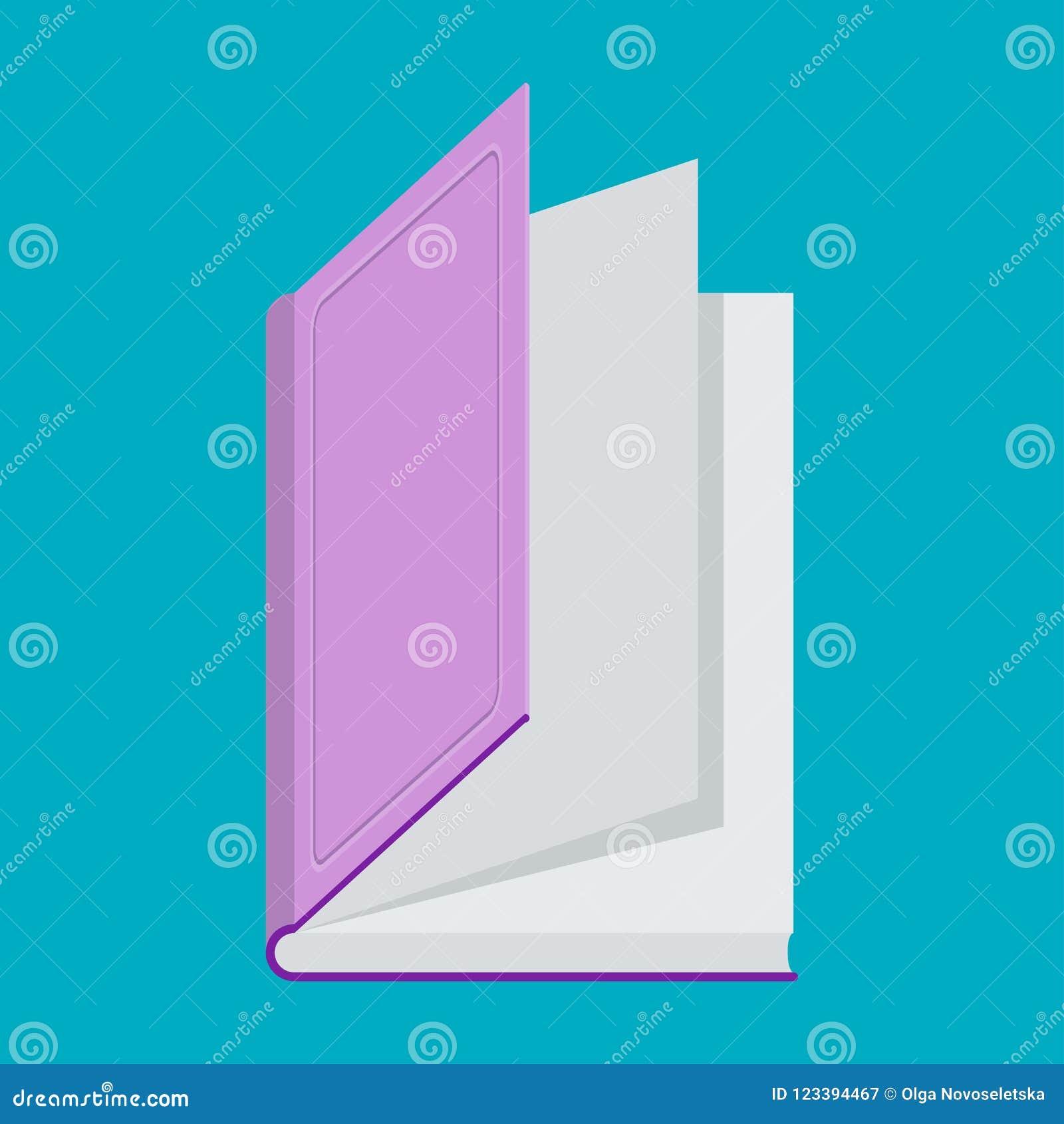 Icone De Couleur De Livre Sur Le Bleu Livre Pour Lire Et