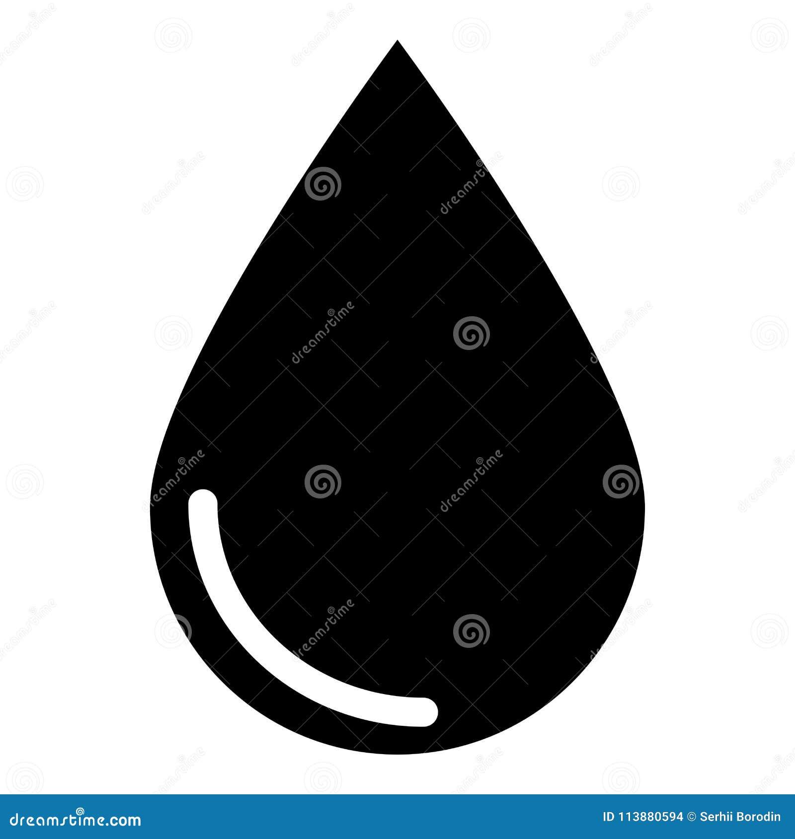 Icône de couleur de noir d icône de baisse