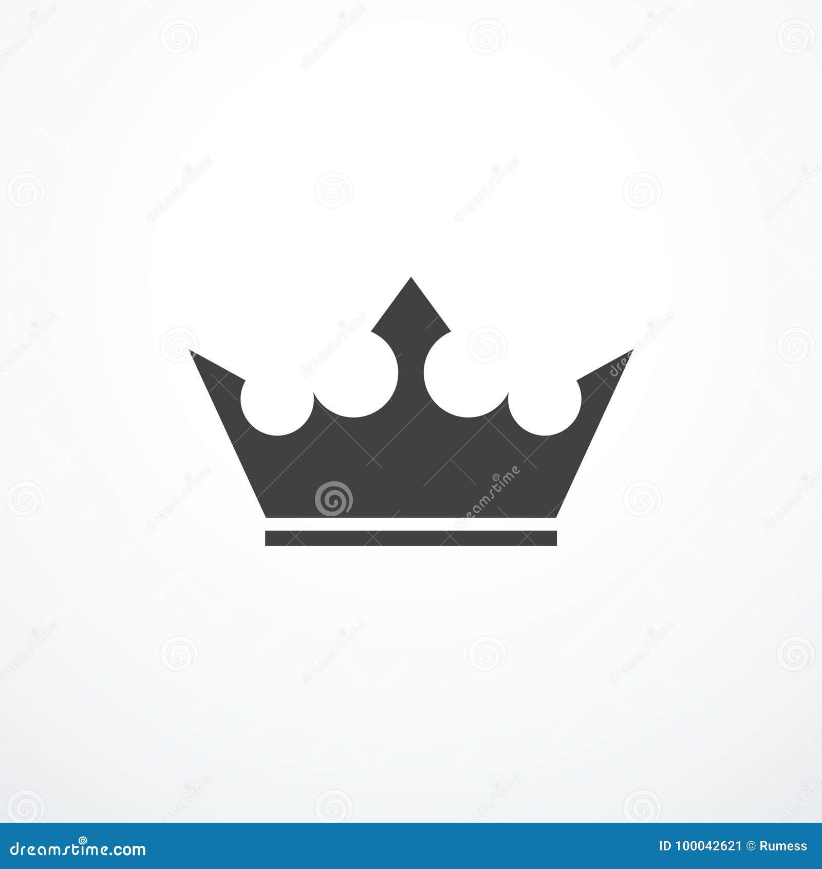 Icône de couronne de vecteur