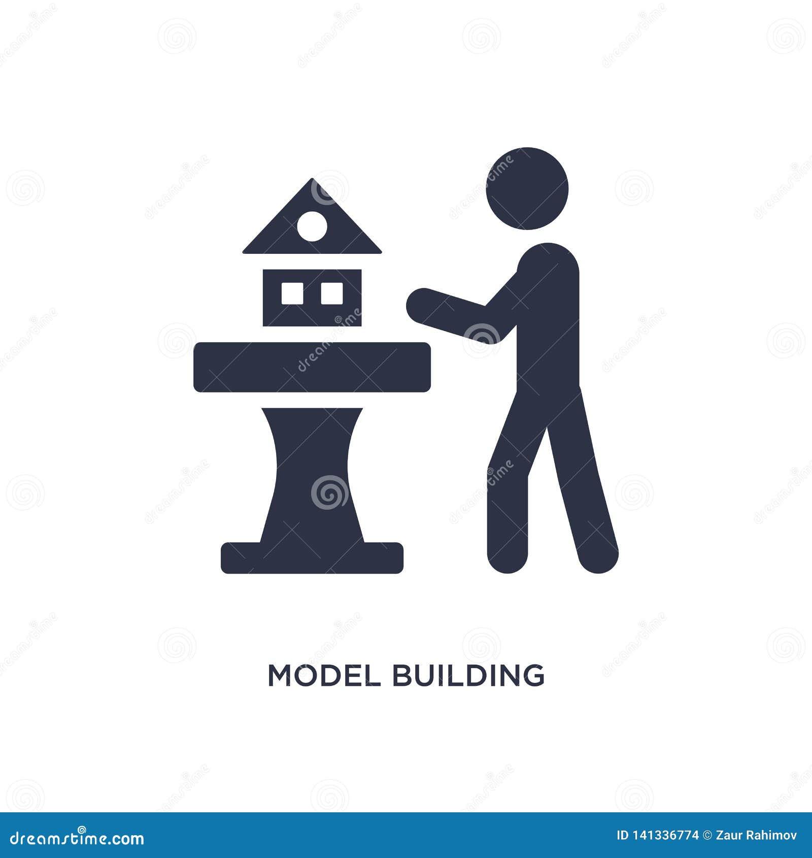 Icône de création de modèles sur le fond blanc Illustration simple d élément d activité et de concept de passe-temps