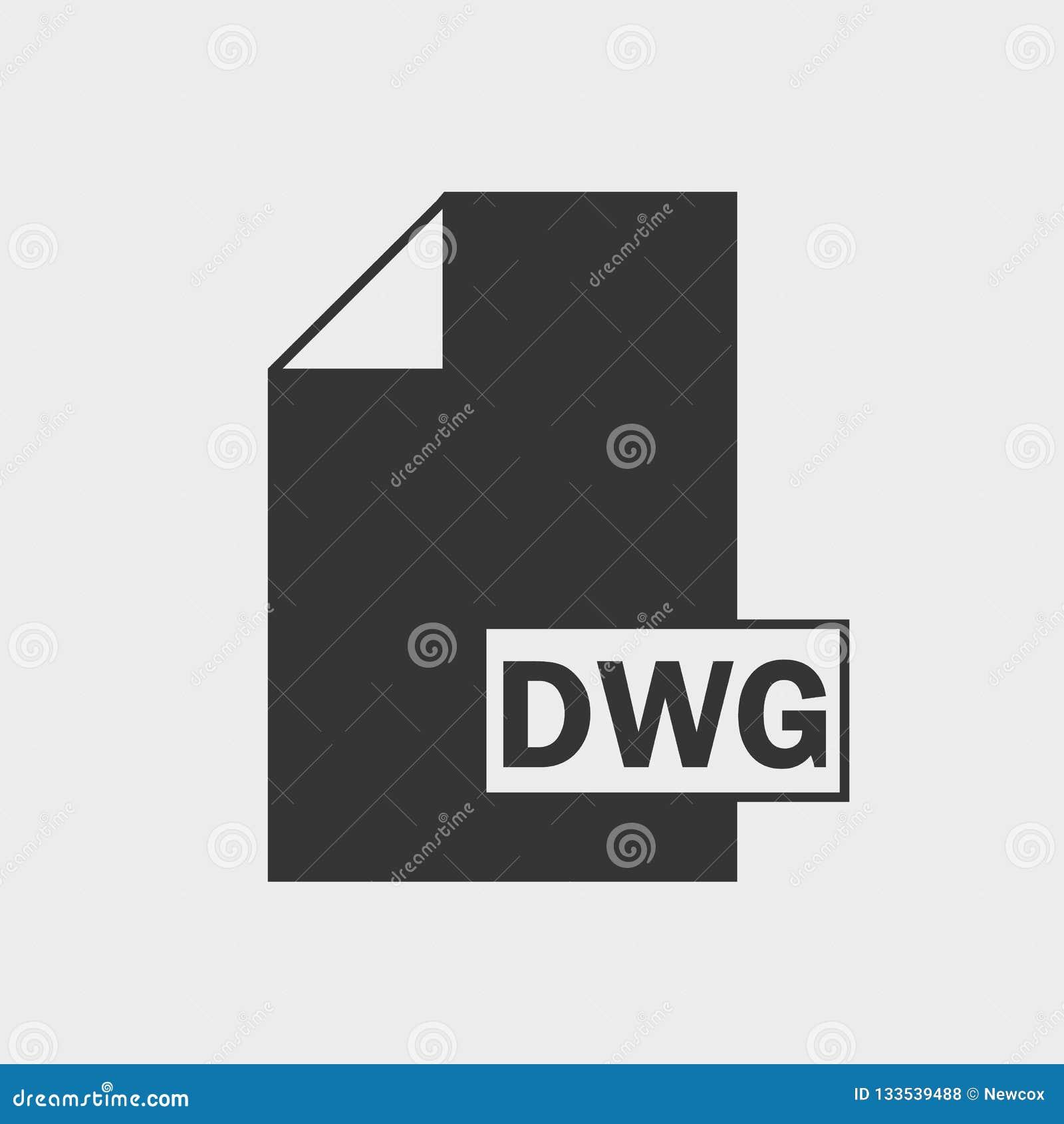 Icône De Dessin De Format De Fichier De Dwg Illustration De
