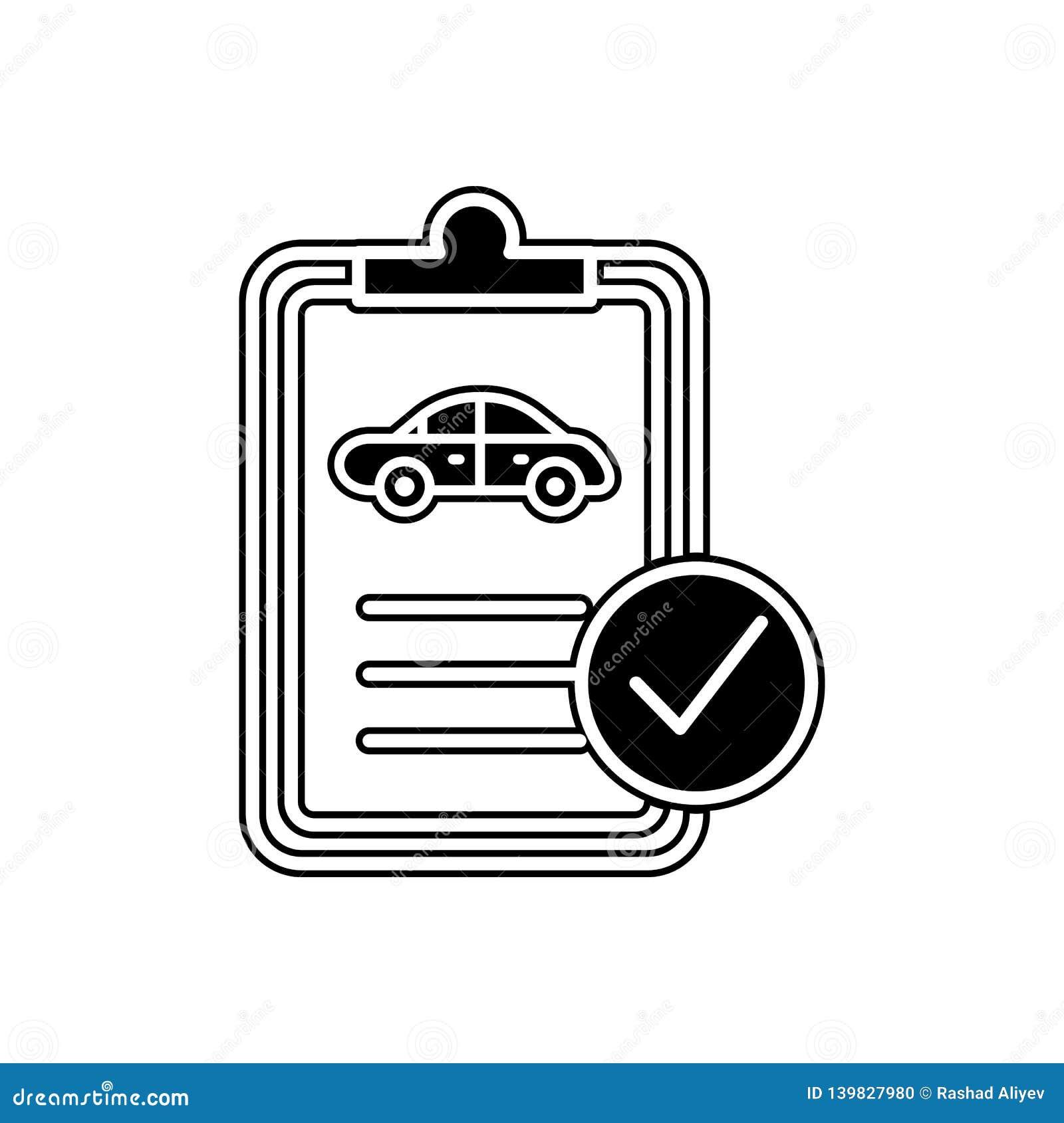Icône de document technique de voiture Élément des voitures service et des pièces de réparation pour le concept et l icône mobile