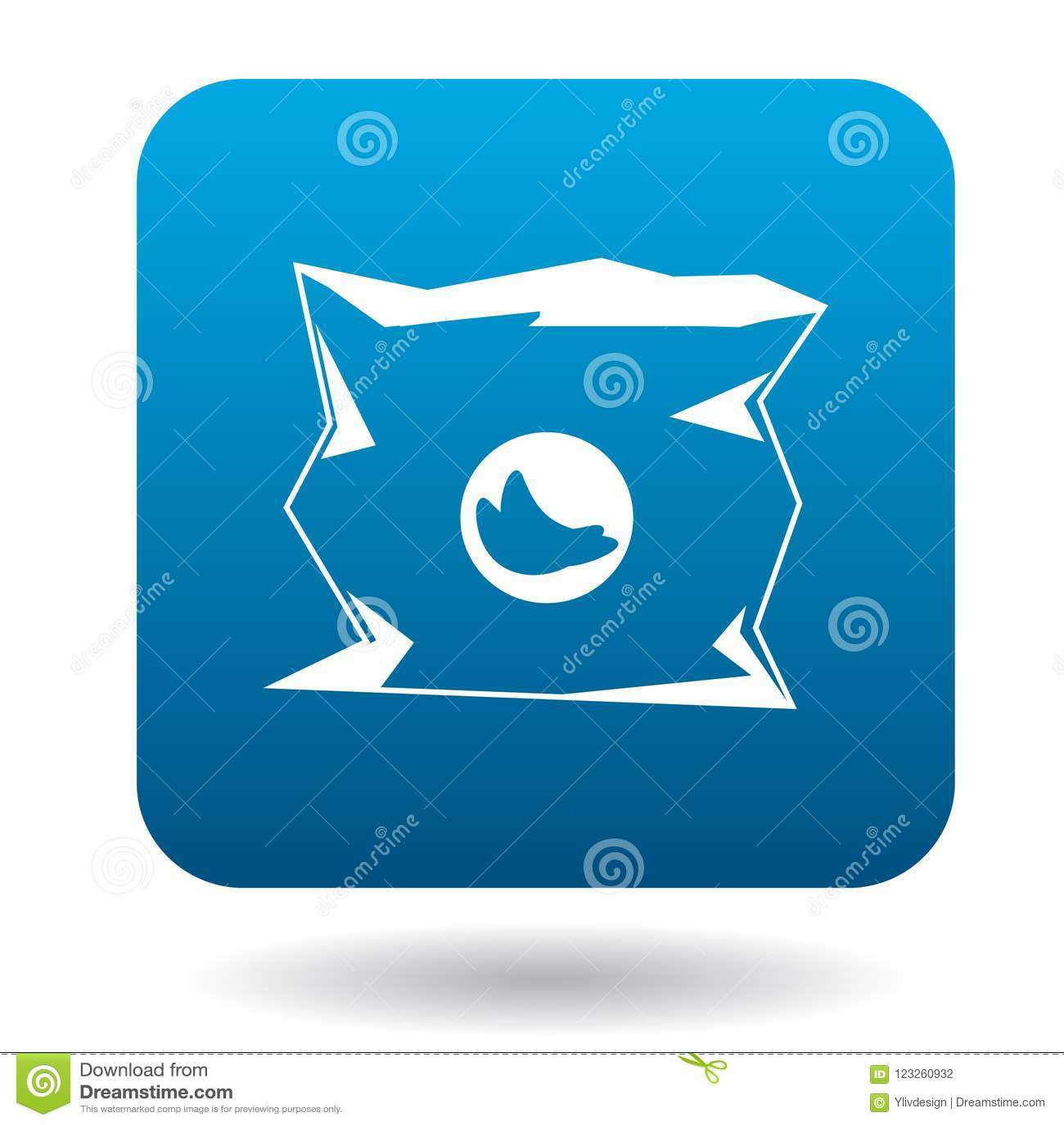 Icône de empaquetage utilisée dans le style simple