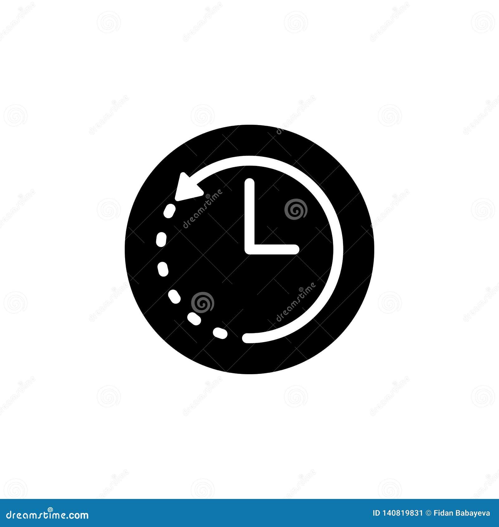 Icône de flèche d horloge Des signes et les symboles peuvent être employés pour le Web, logo, l appli mobile, UI, UX