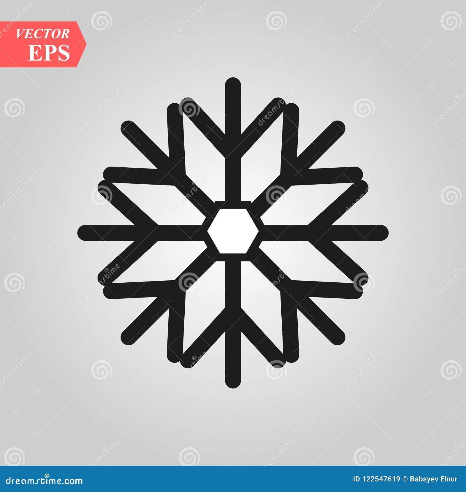 Icône de flocon de neige à l arrière-plan plat à la mode de style, jpg d image, vecteur ENV, Web plat, icône matérielle, illustra