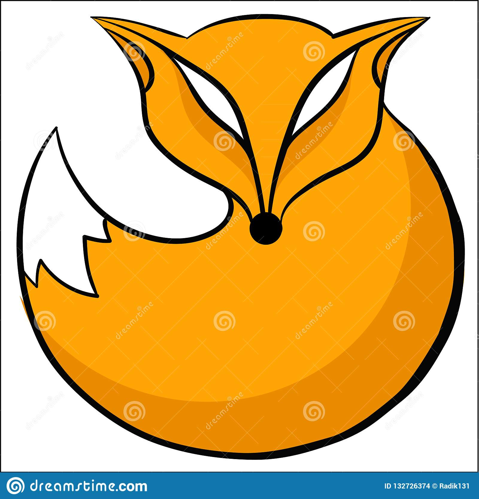 Icône de Fox ronde