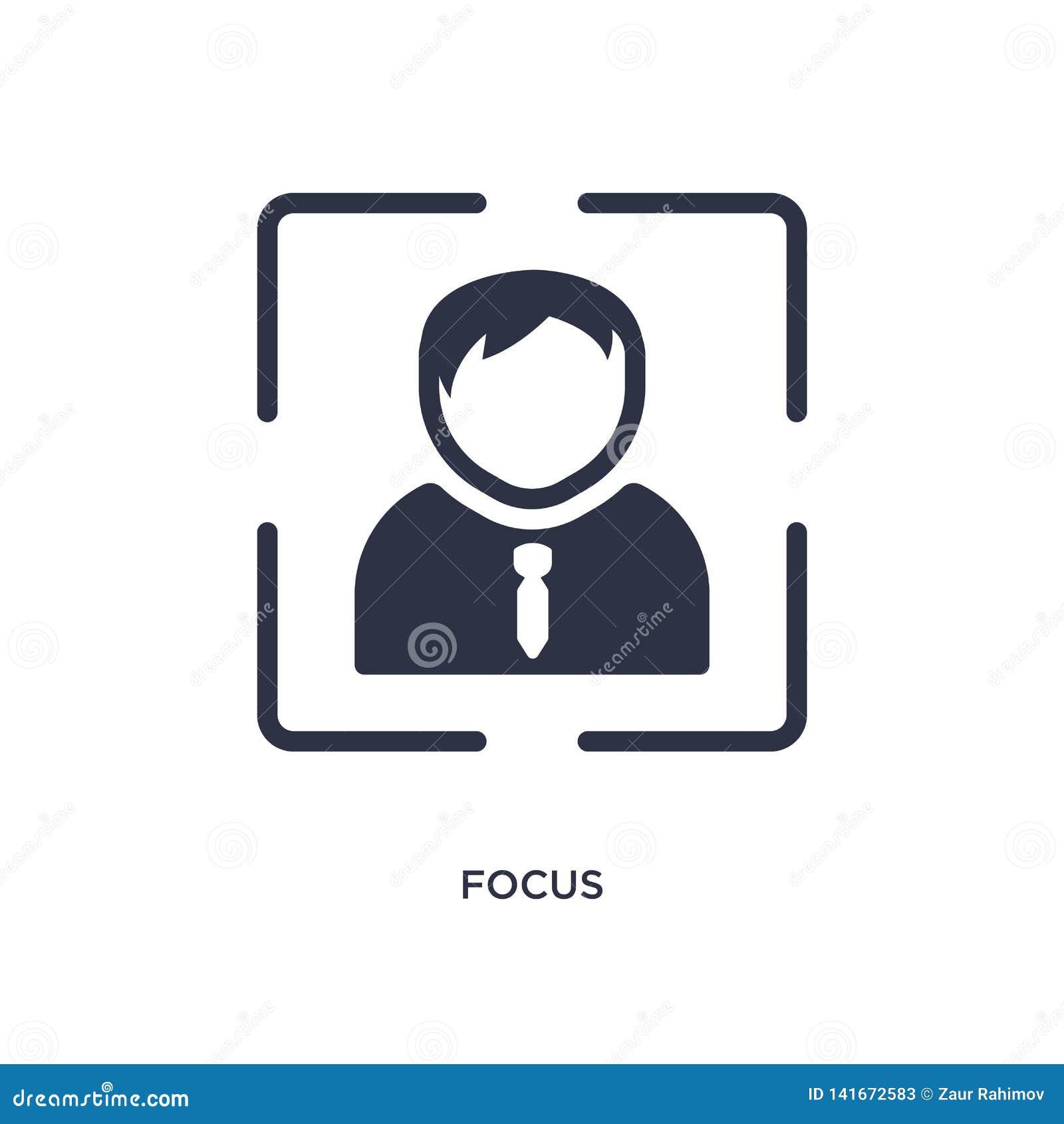 Icône de foyer sur le fond blanc Illustration simple d élément de concept de stratégie