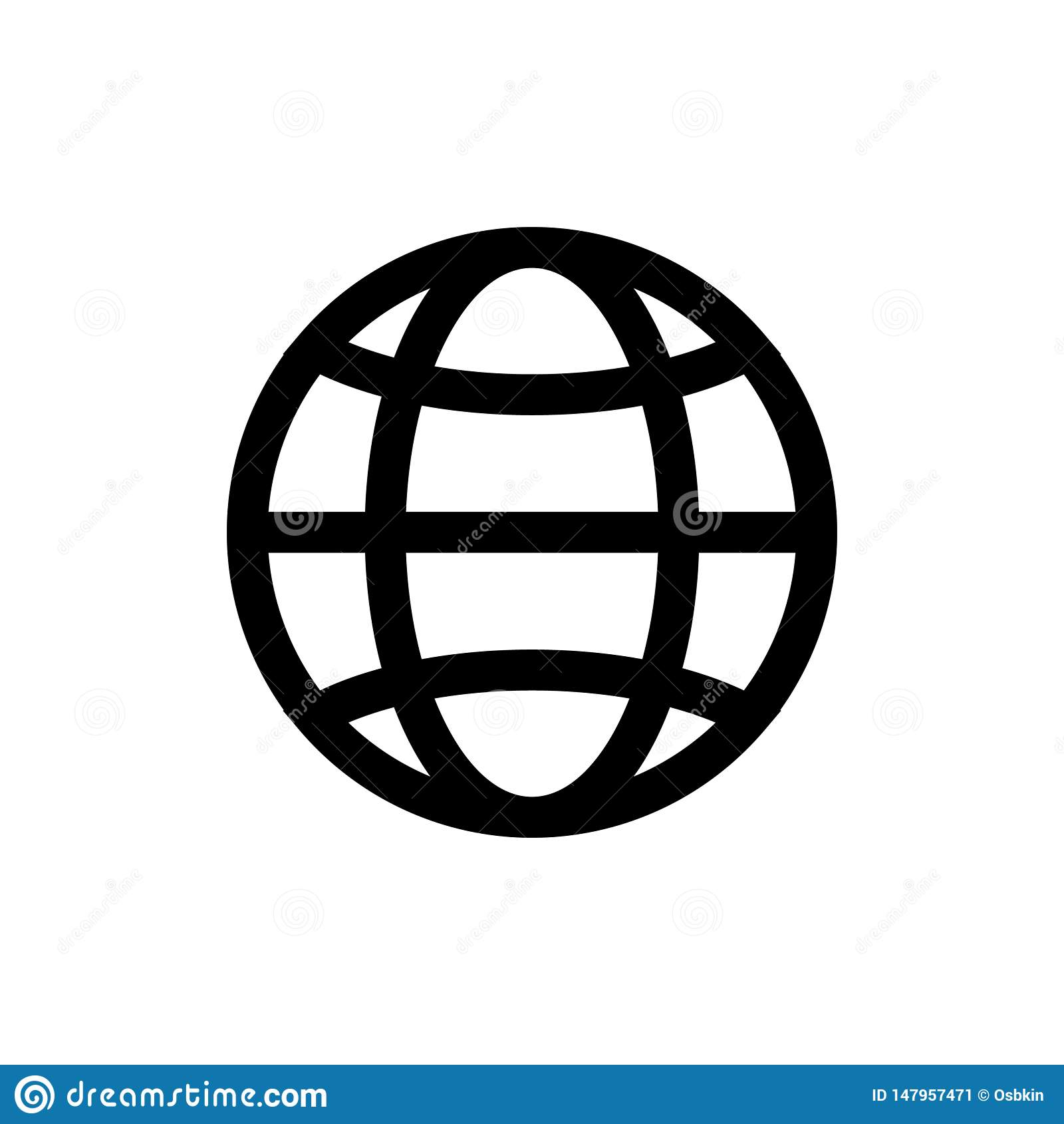 Icône de globe, d isolement