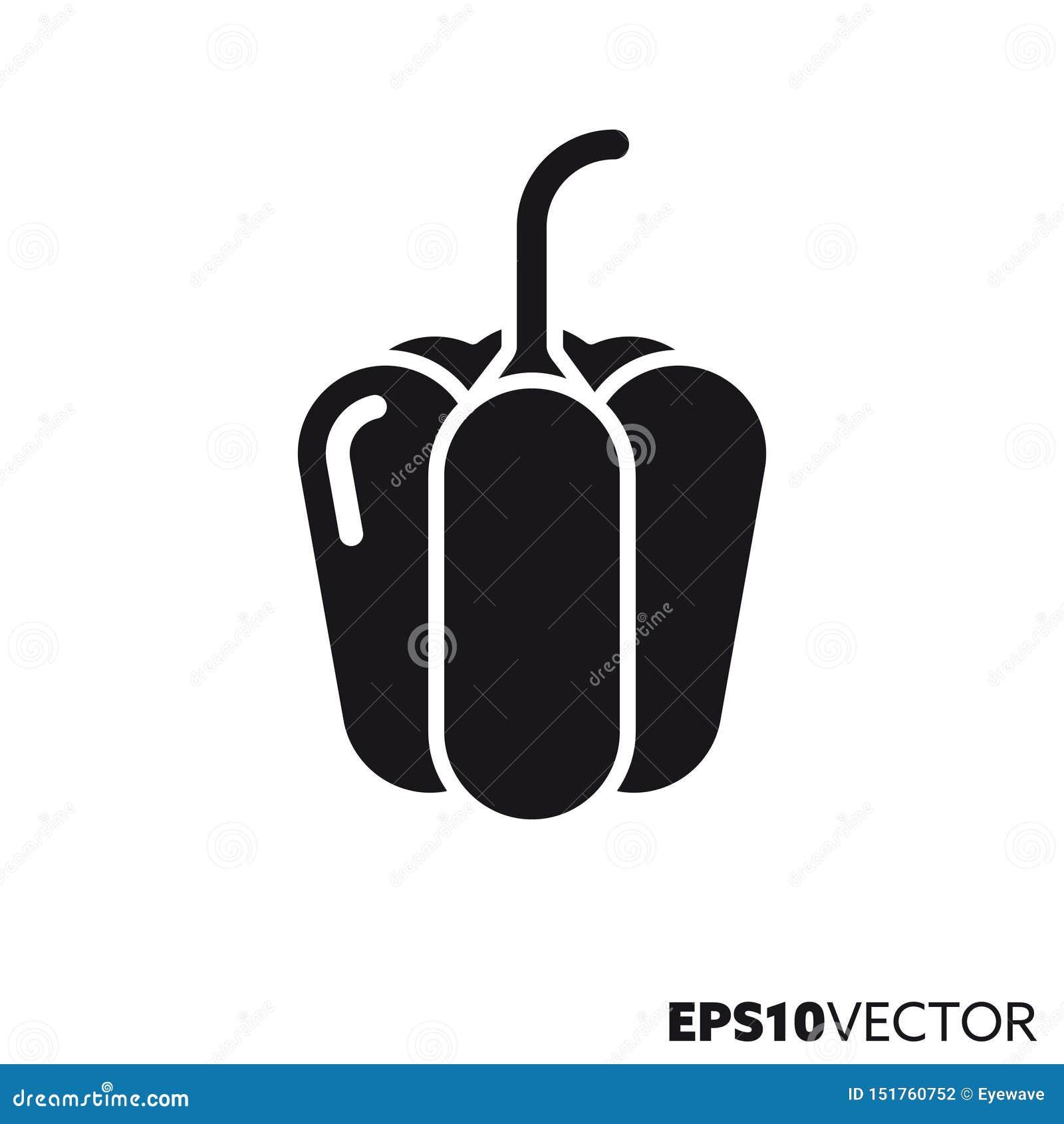 Icône de glyph de vecteur de paprika