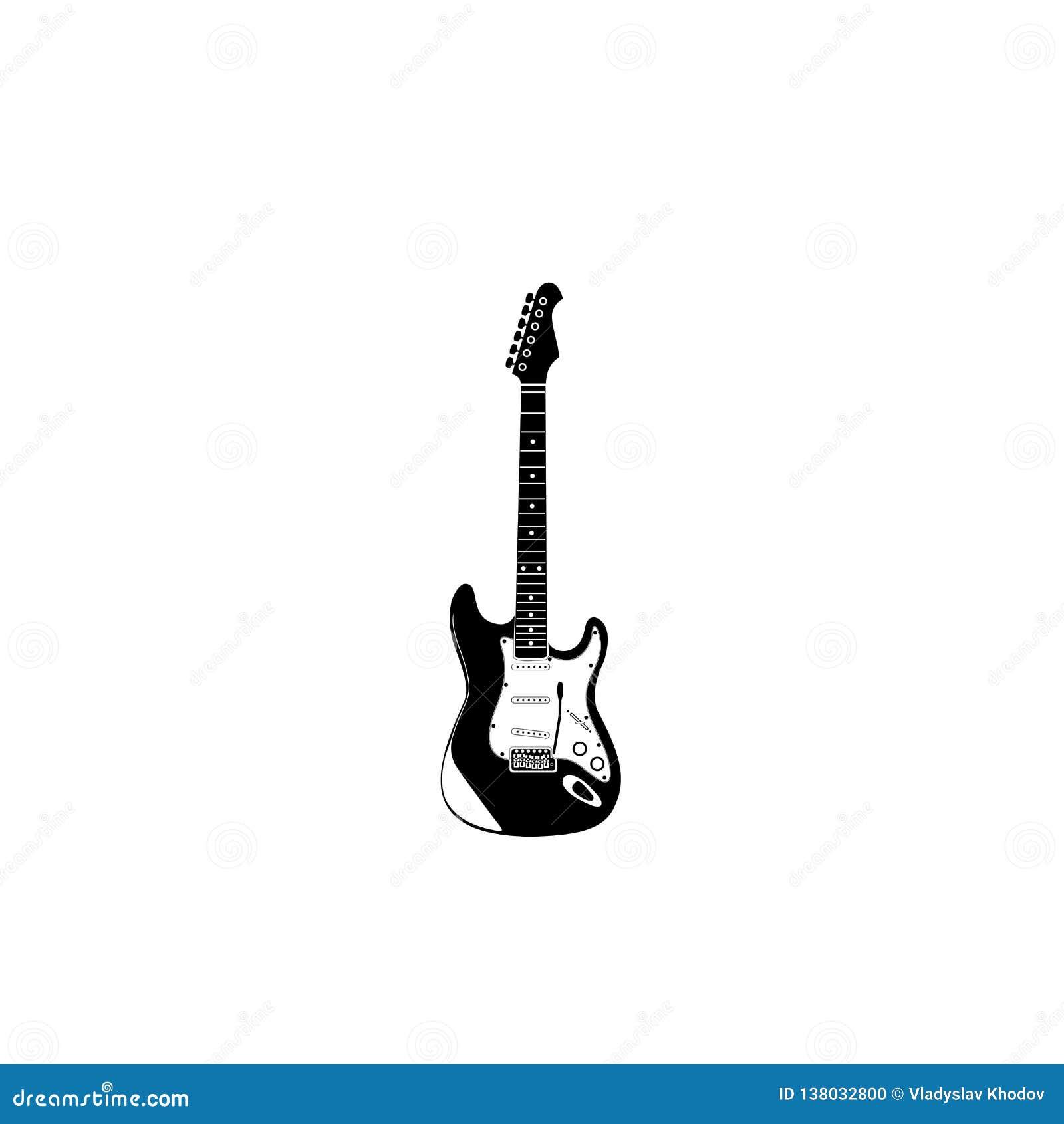 Icône de guitare électrique avec le levier