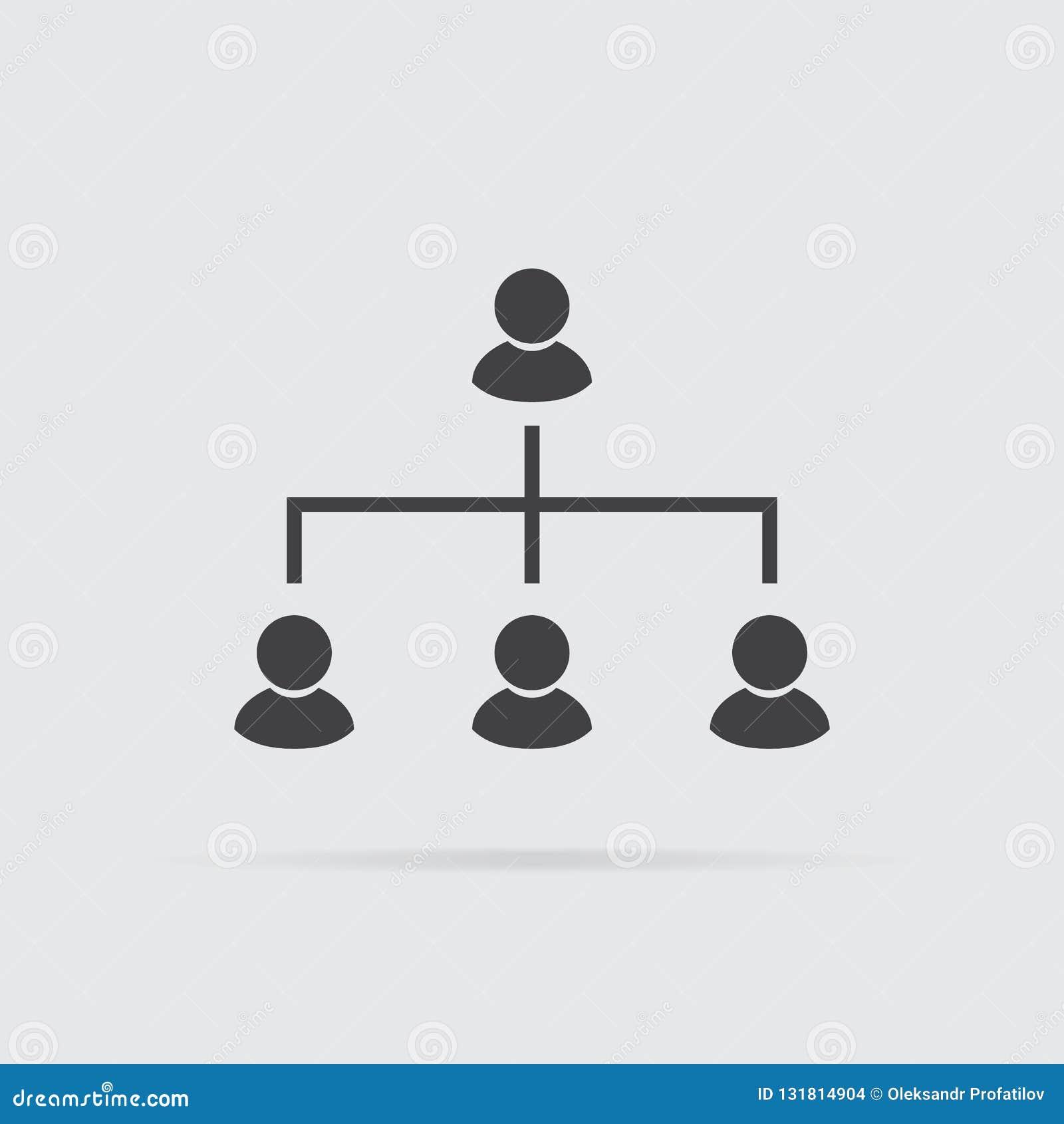 Icône de hiérarchie dans le style plat d isolement sur le fond gris