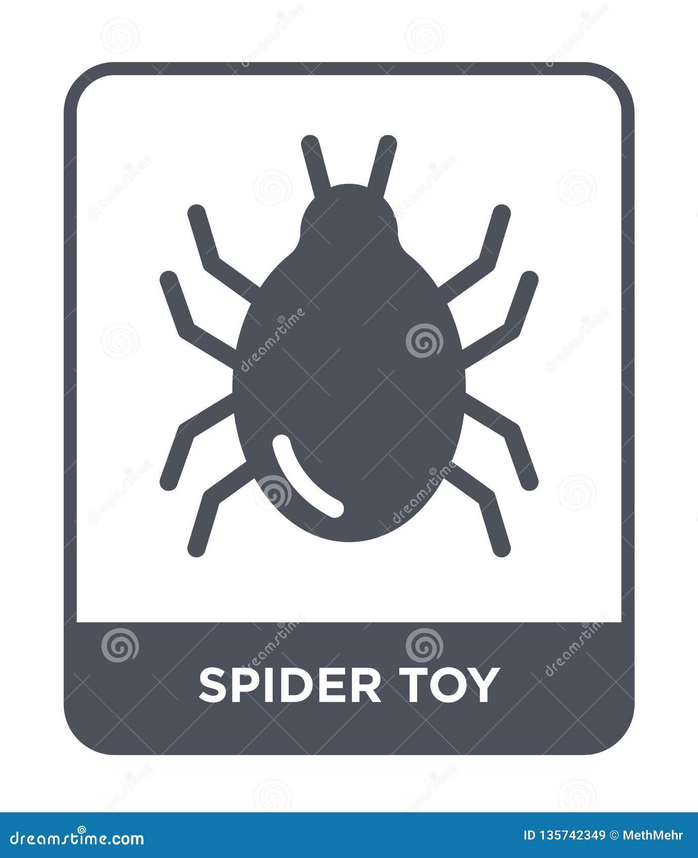 Icône de jouet d araignée dans le style à la mode de conception icône de jouet d araignée d isolement sur le fond blanc icône de