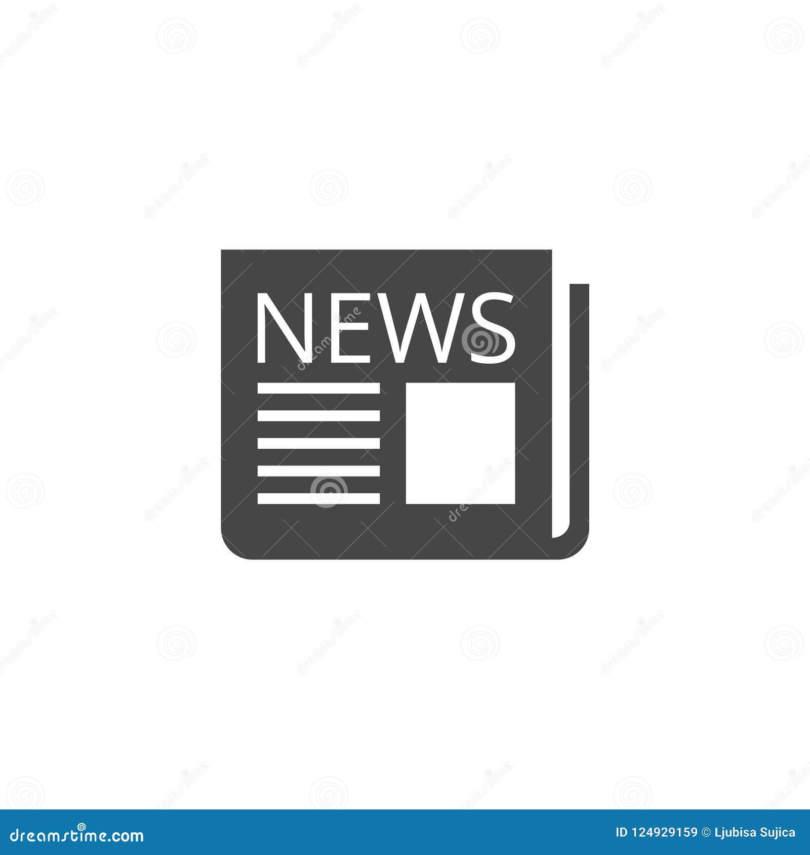 Icône de journal, icône d actualités