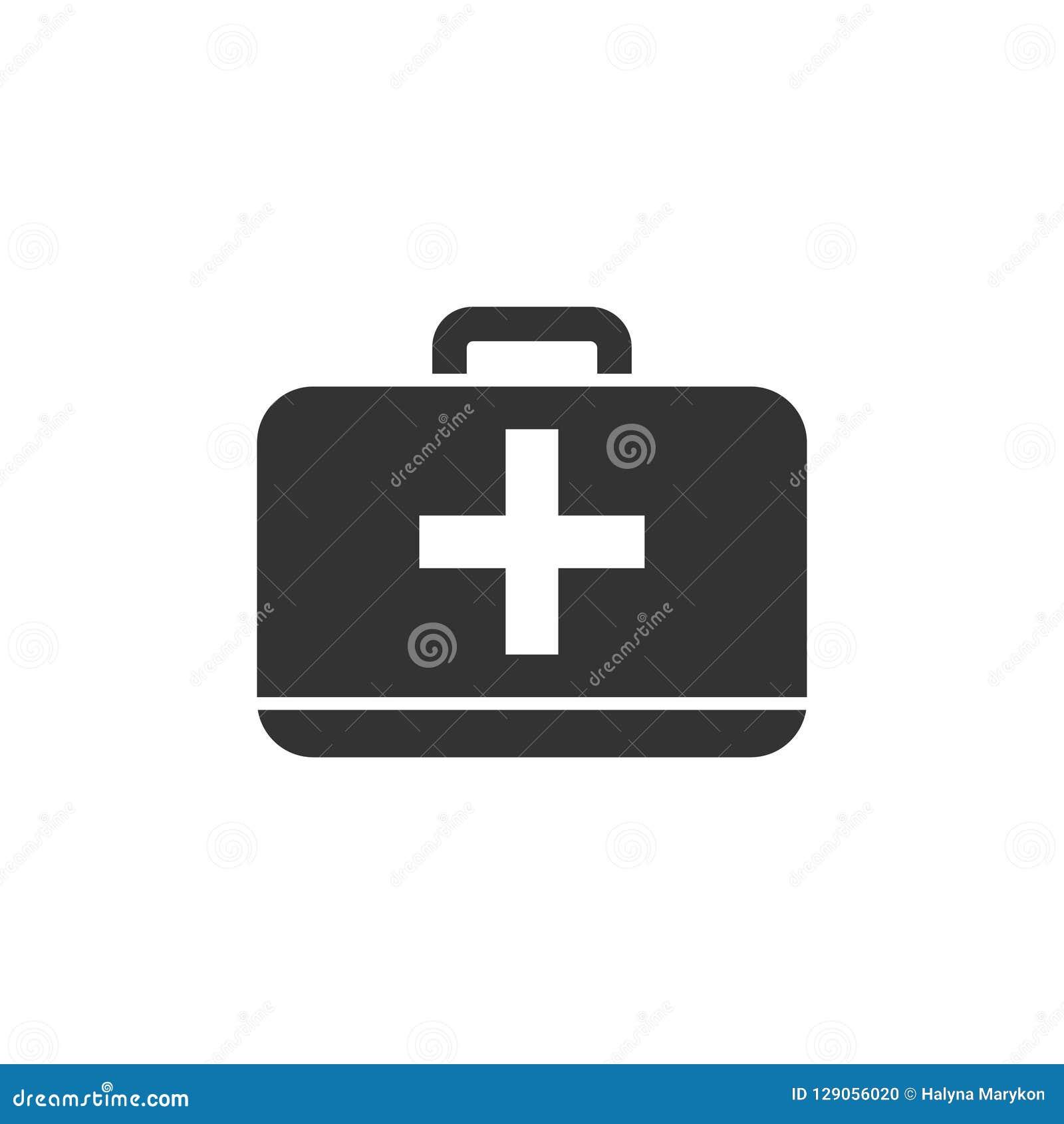 Icône de kit de premiers secours plate