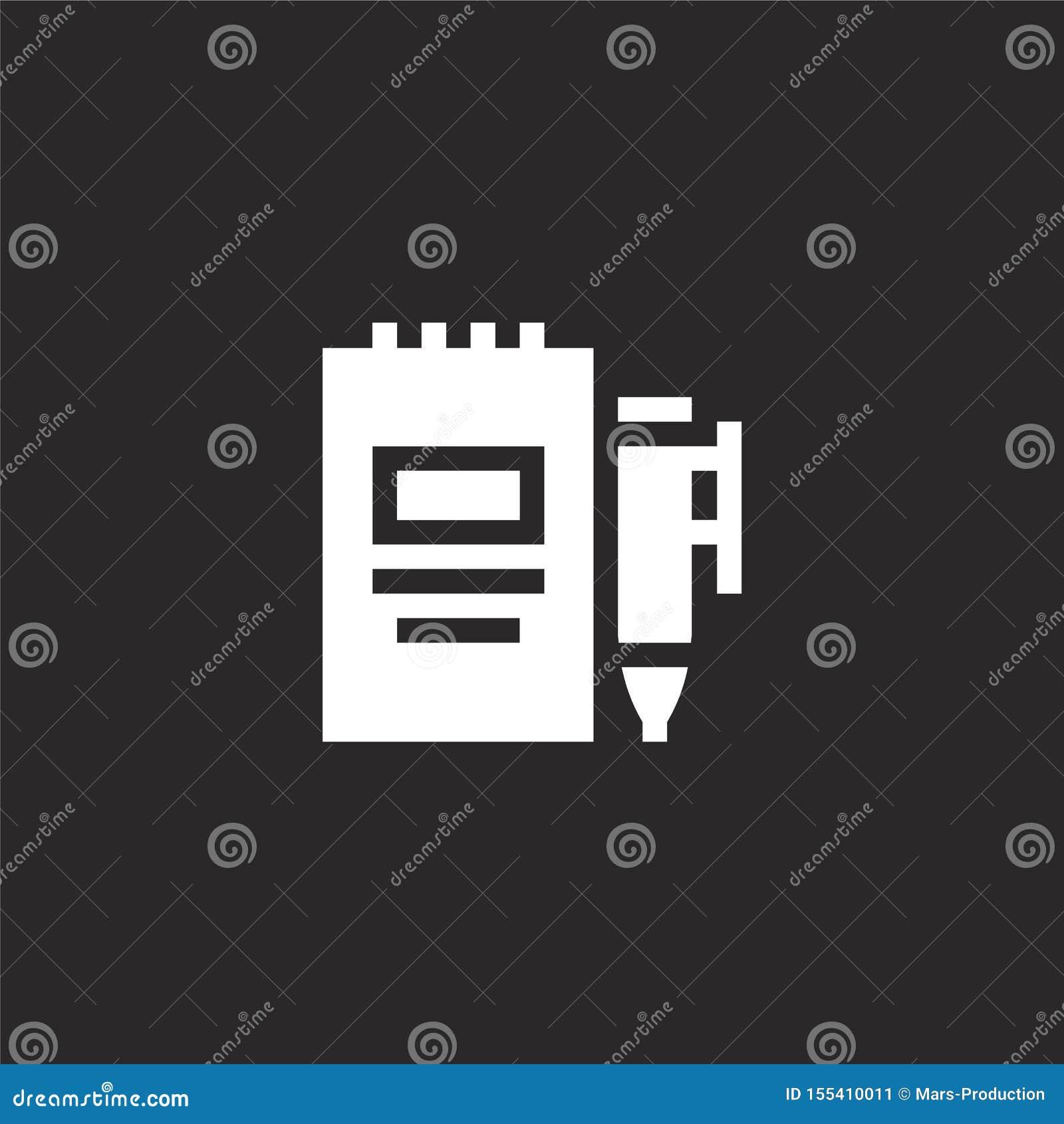 Icône de l agenda Icône de l agenda rempli pour la conception de sites Web et le développement d applications mobiles icône de l