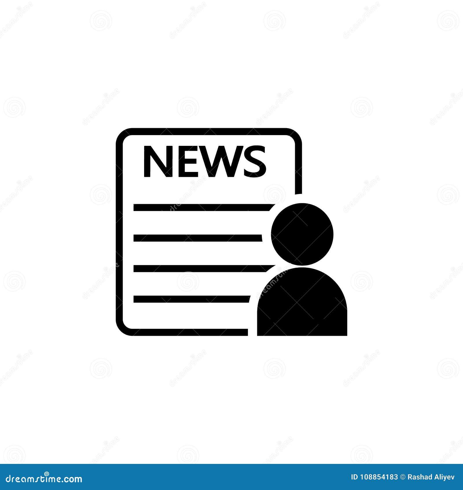 Icône de lecteur de journal Éléments des actualités et du media coulant l icône Conception graphique de qualité de la meilleure q