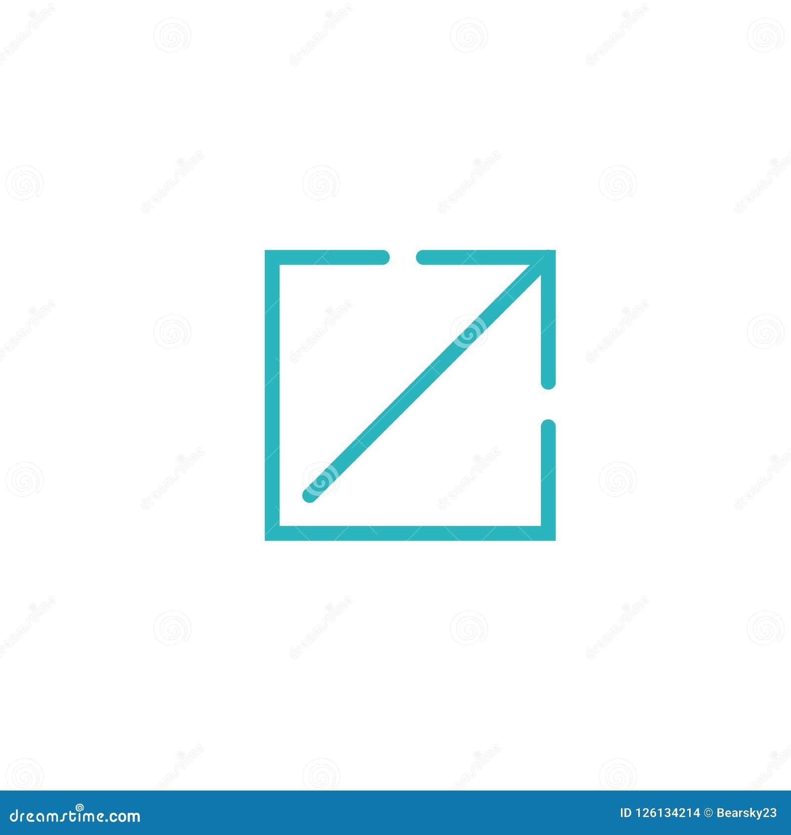 Icône de lien externe pour le Web d UI ou d UX et les applications mobiles