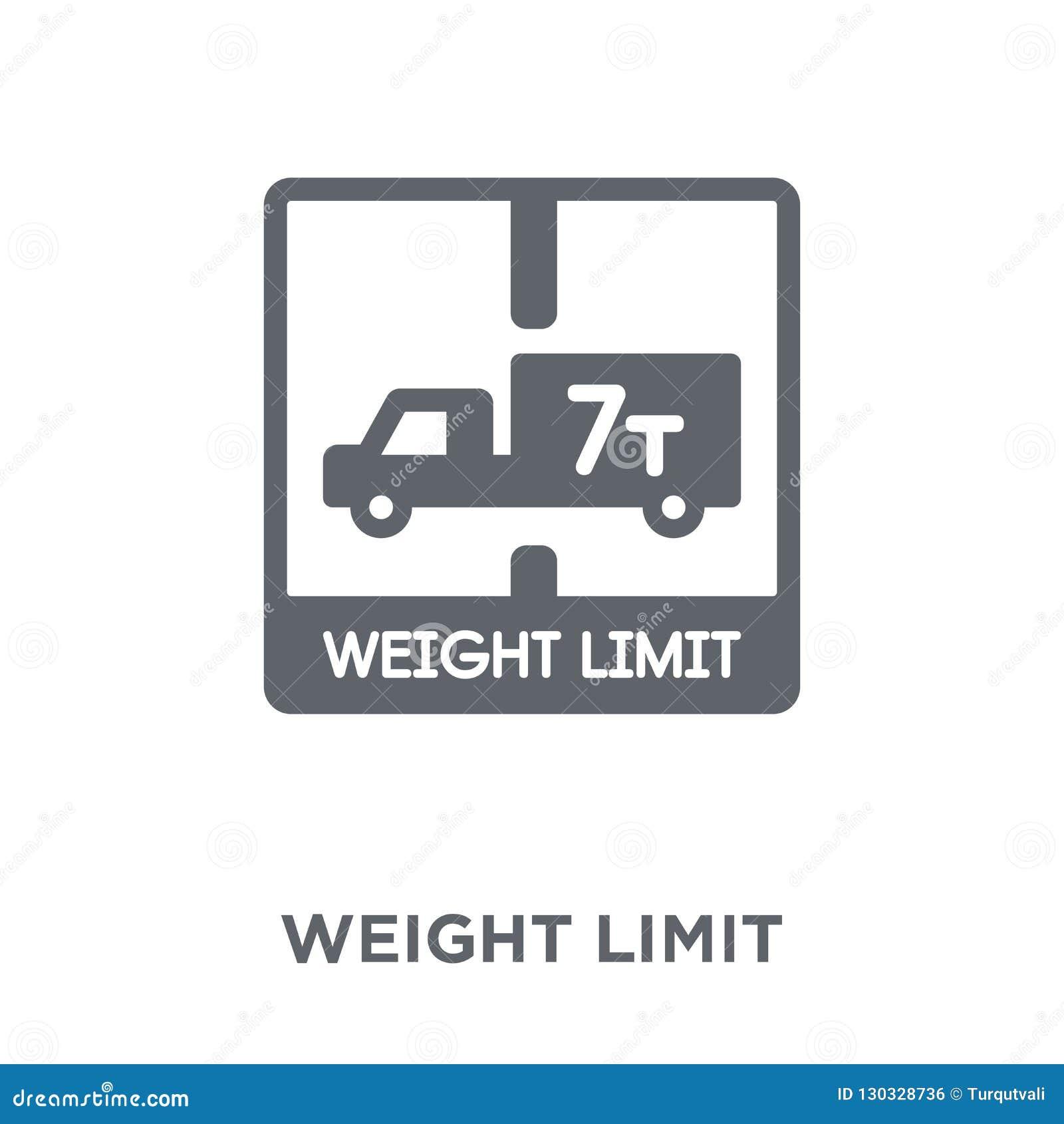 Icône de limite de poids de la livraison et de la collection logistique