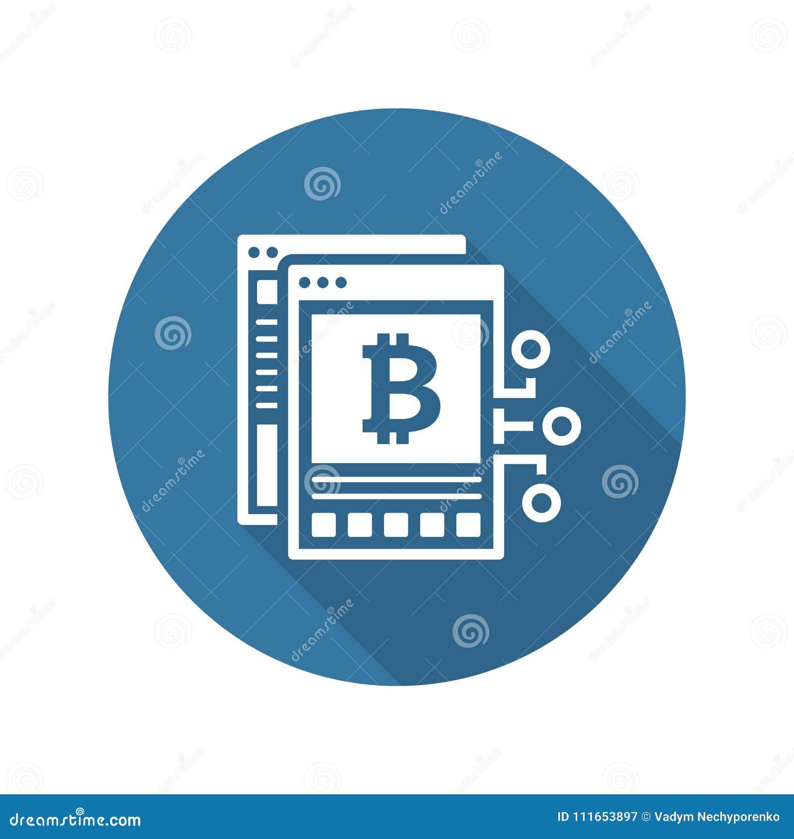 Icone De Livre Blanc De Bitcoin Illustration De Vecteur
