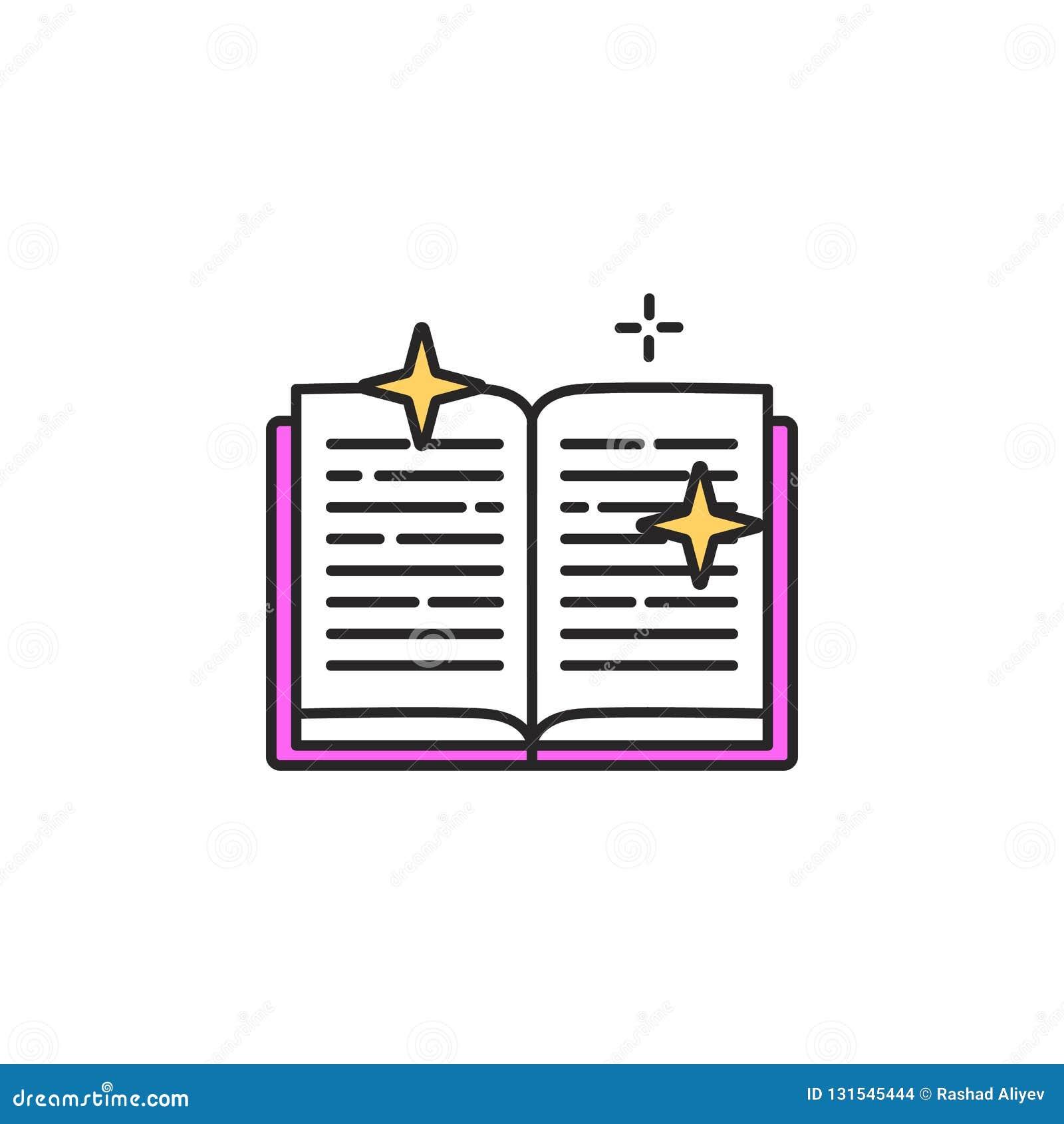 Icone De Livre De Sorcellerie Element D Icone Magique Pour