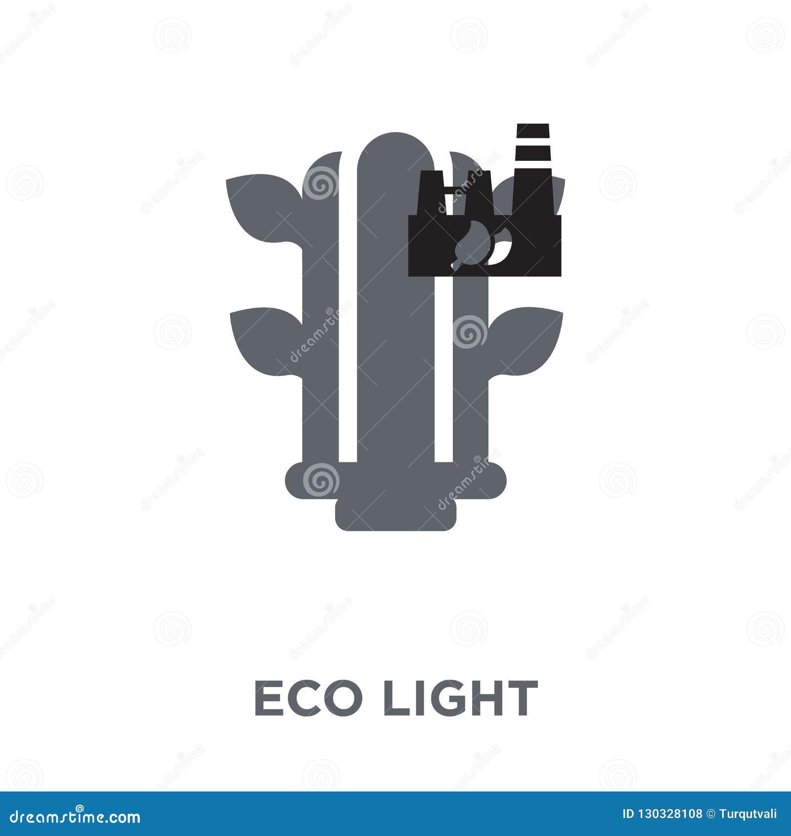 Icône de lumière d Eco de collection d écologie