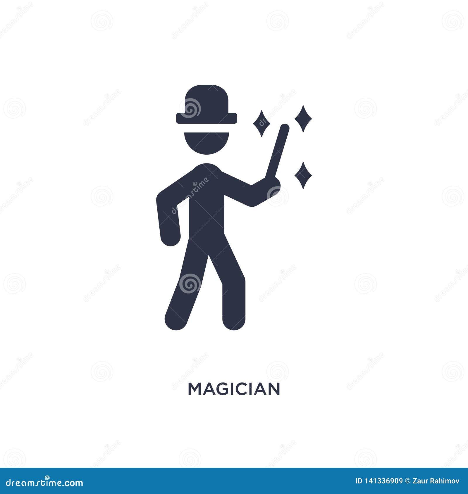 Icône de magicien sur le fond blanc Illustration simple d élément de concept d activités en plein air