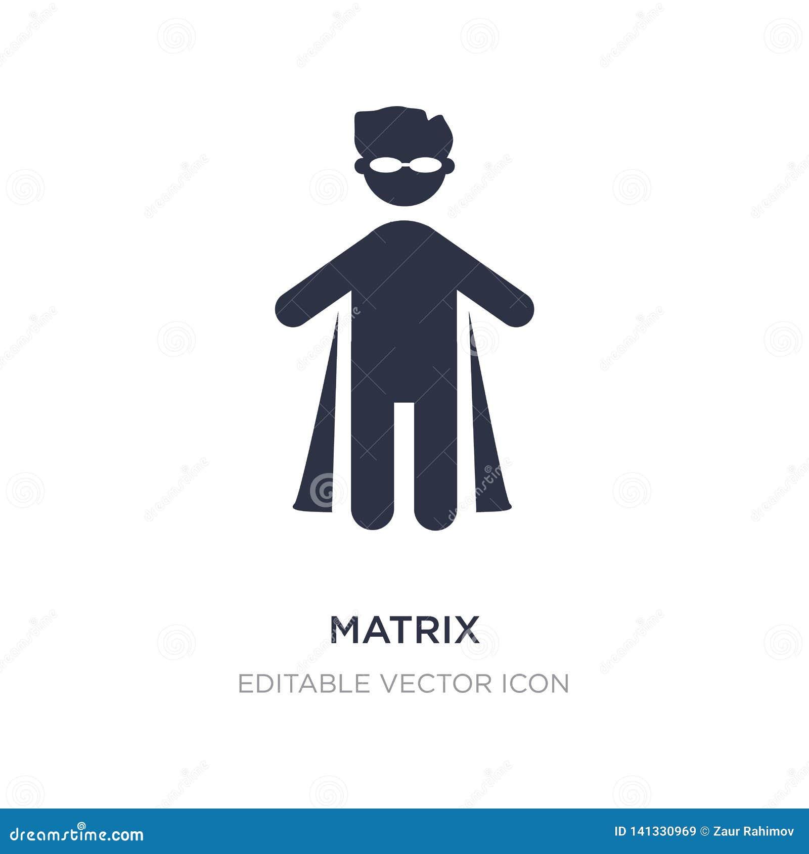 Icône de matrice sur le fond blanc Illustration simple d élément de concept de personnes